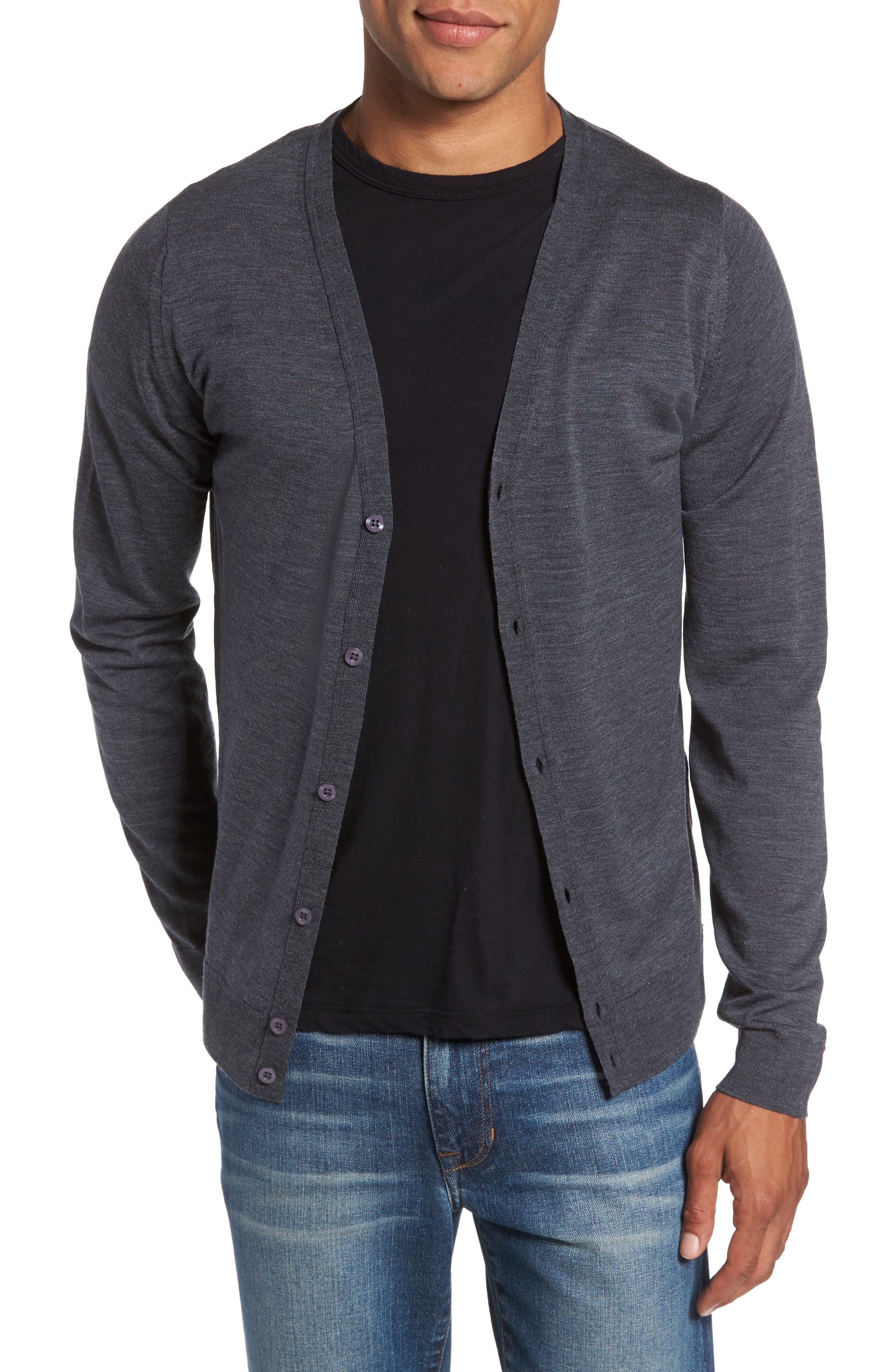 Main Image - John Smedley Standard Fit Wool Cardigan