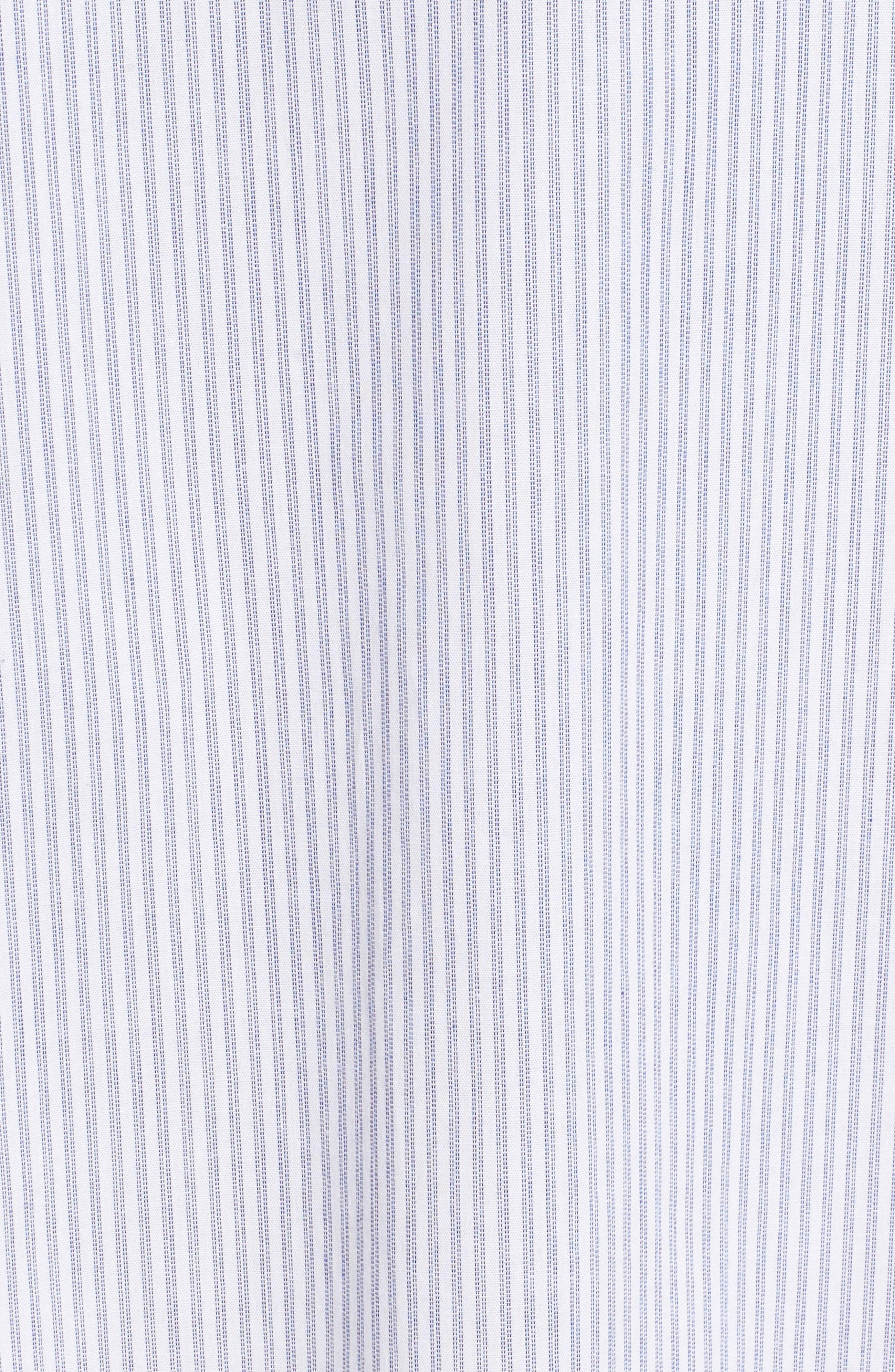 Embroidered Poplin Dress,                             Alternate thumbnail 6, color,                             White/ Blue