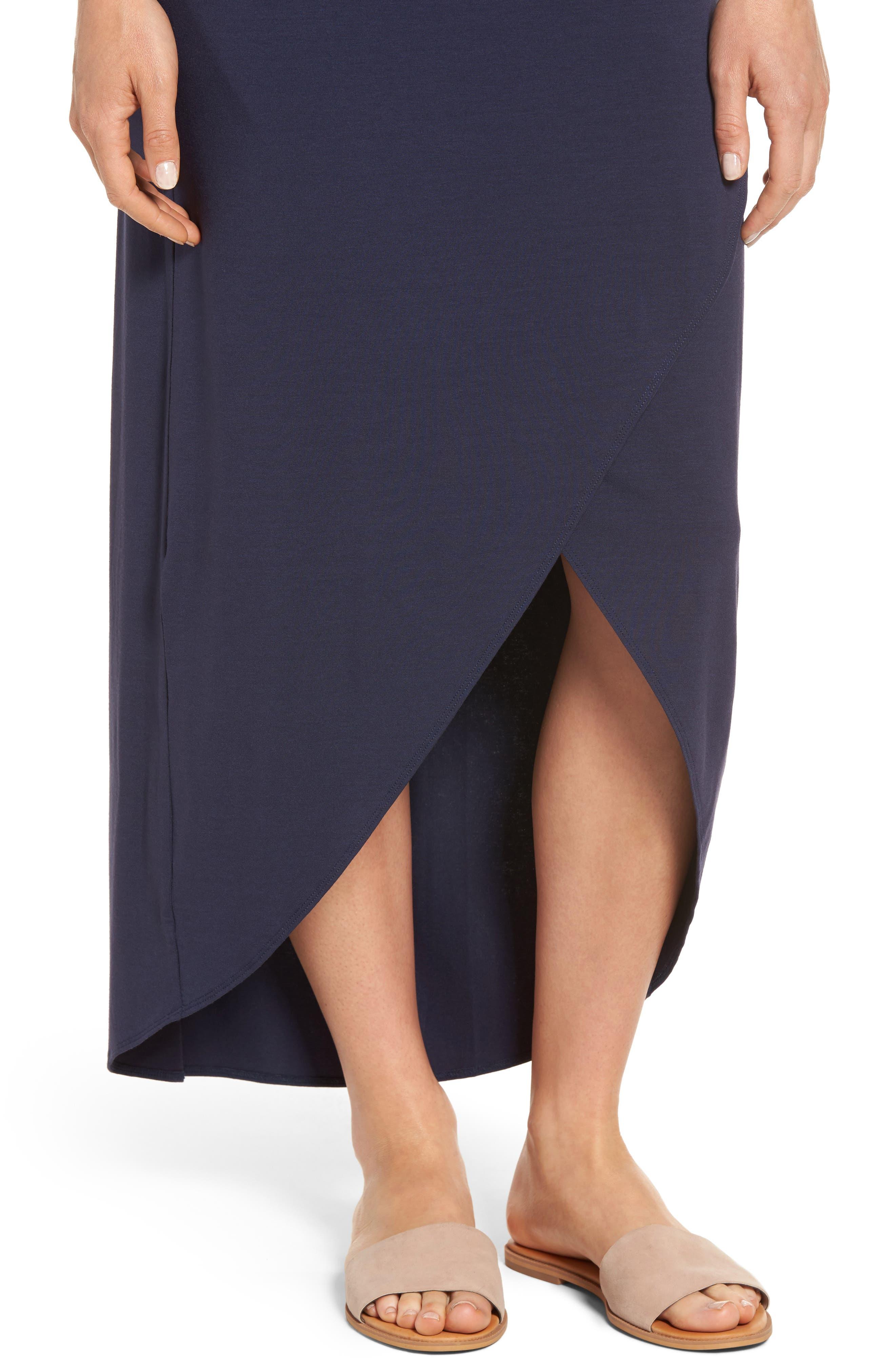 Tambour Maxi Dress,                             Alternate thumbnail 4, color,                             Ocean Deep