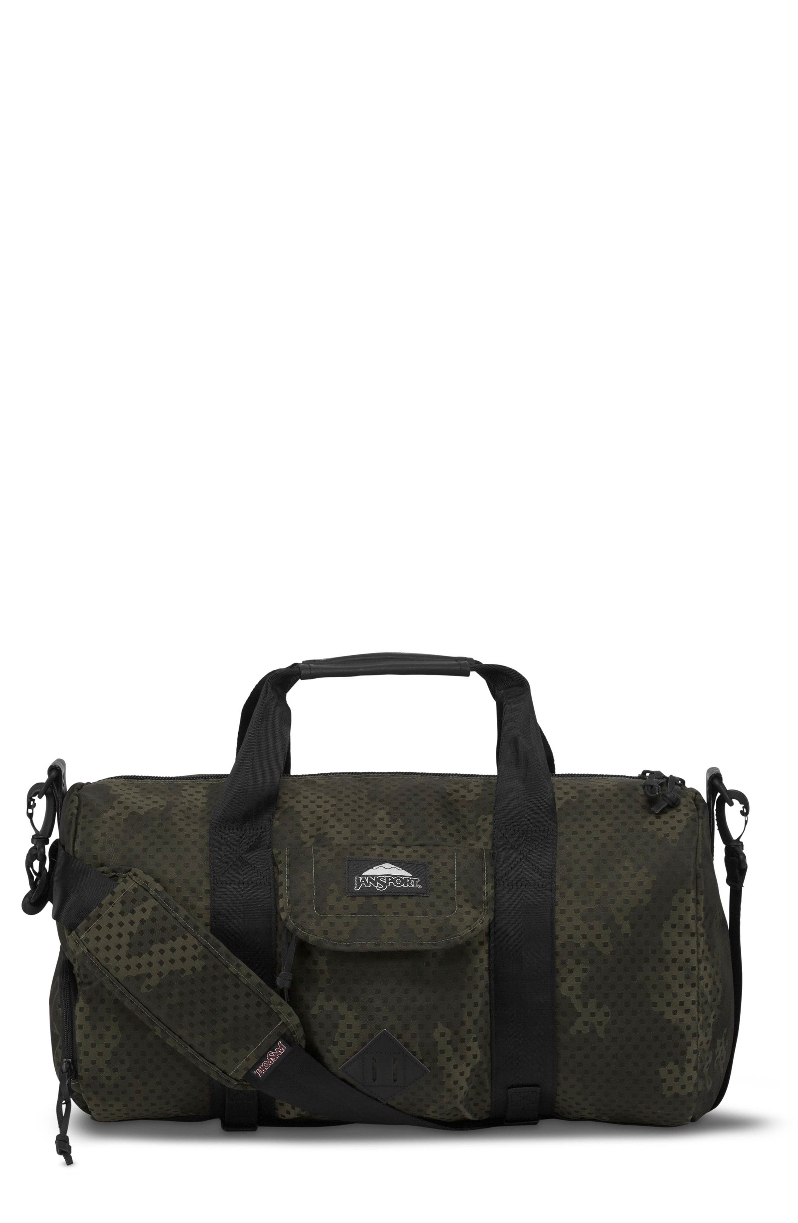 Wayward Duffel Bag,                         Main,                         color, Green Square Camo
