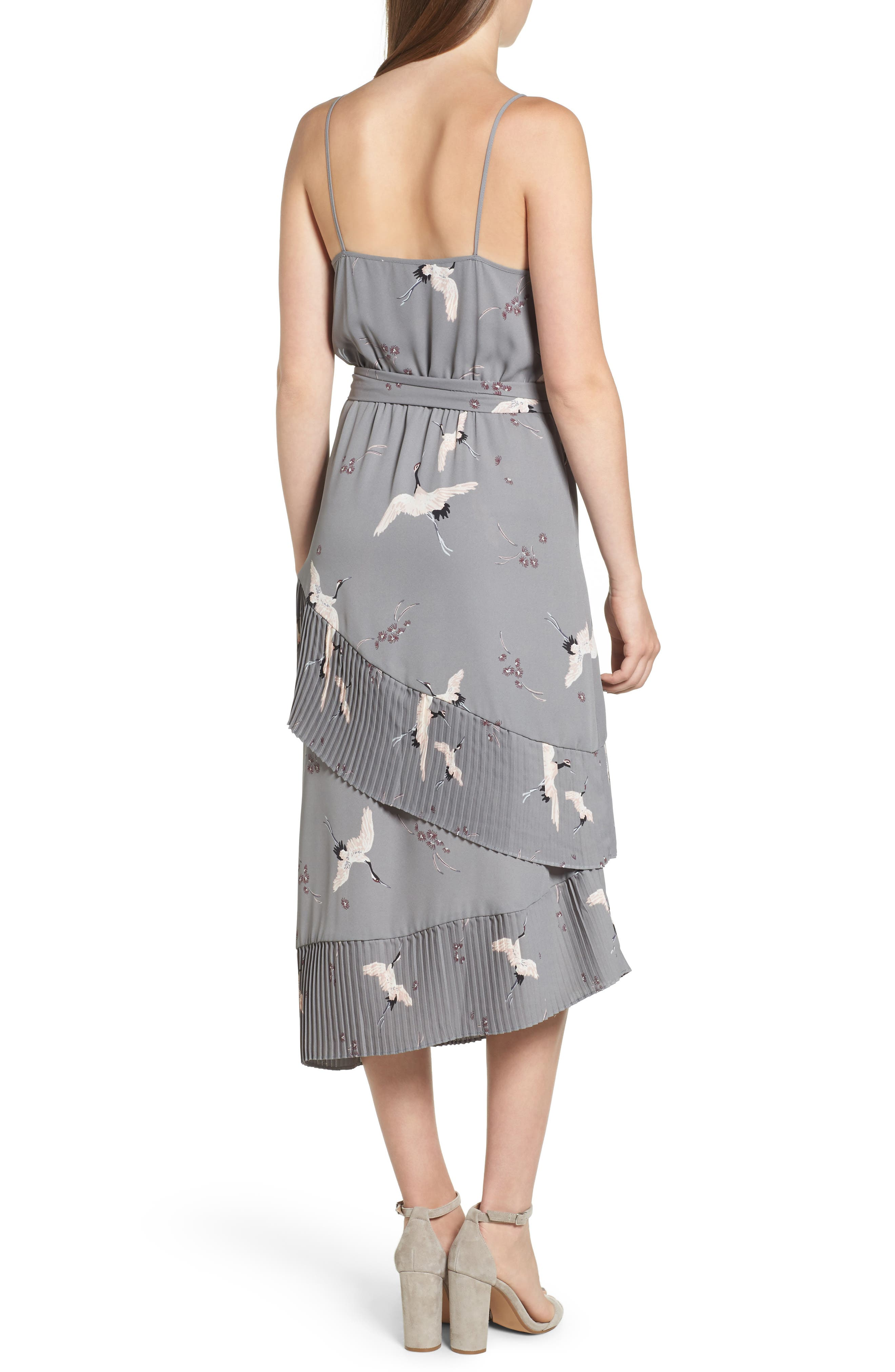 Alternate Image 2  - Leith Ruffle Pleat Midi Dress