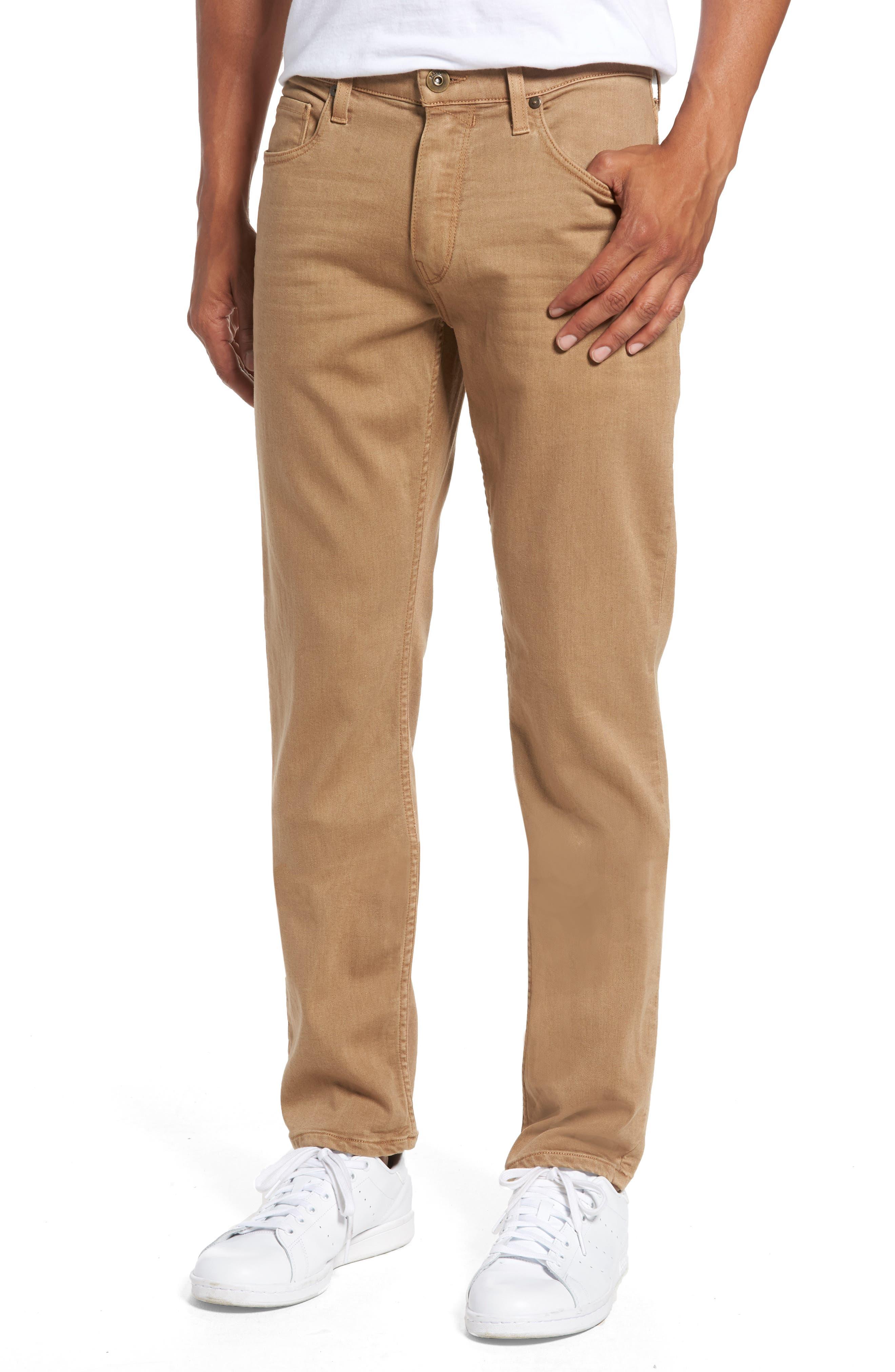 PAIGE Transcend - Federal Slim Straight Fit Jeans (Vintage Dark Camel)