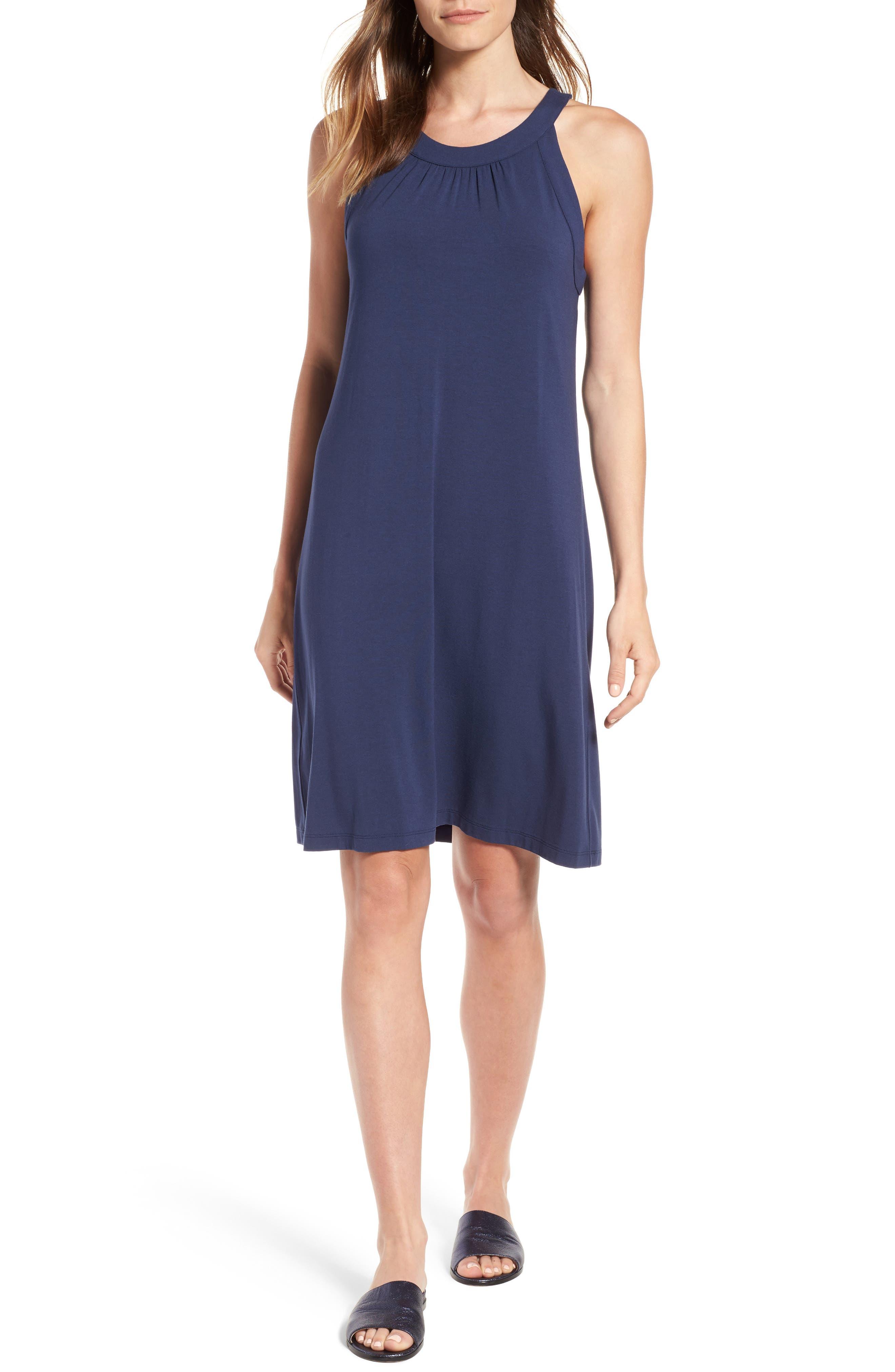 TAMBOUR SHIFT DRESS