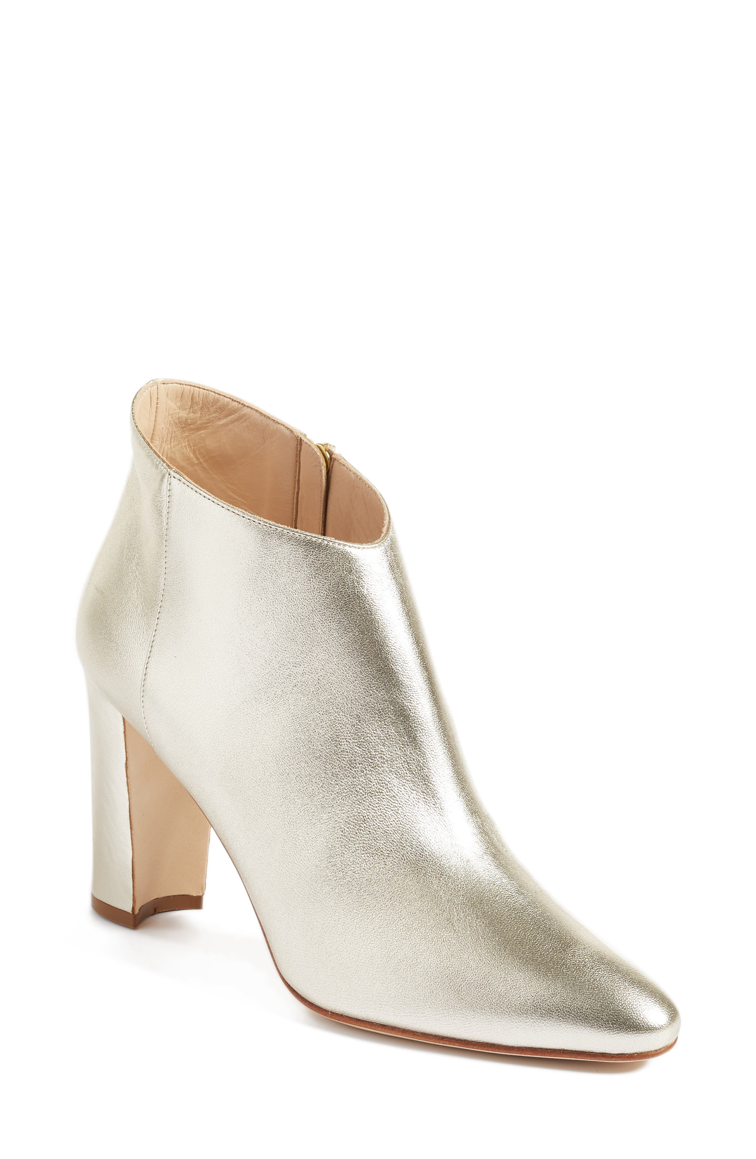 'Brusta'  Bootie,                             Main thumbnail 1, color,                             Light Gold Leather