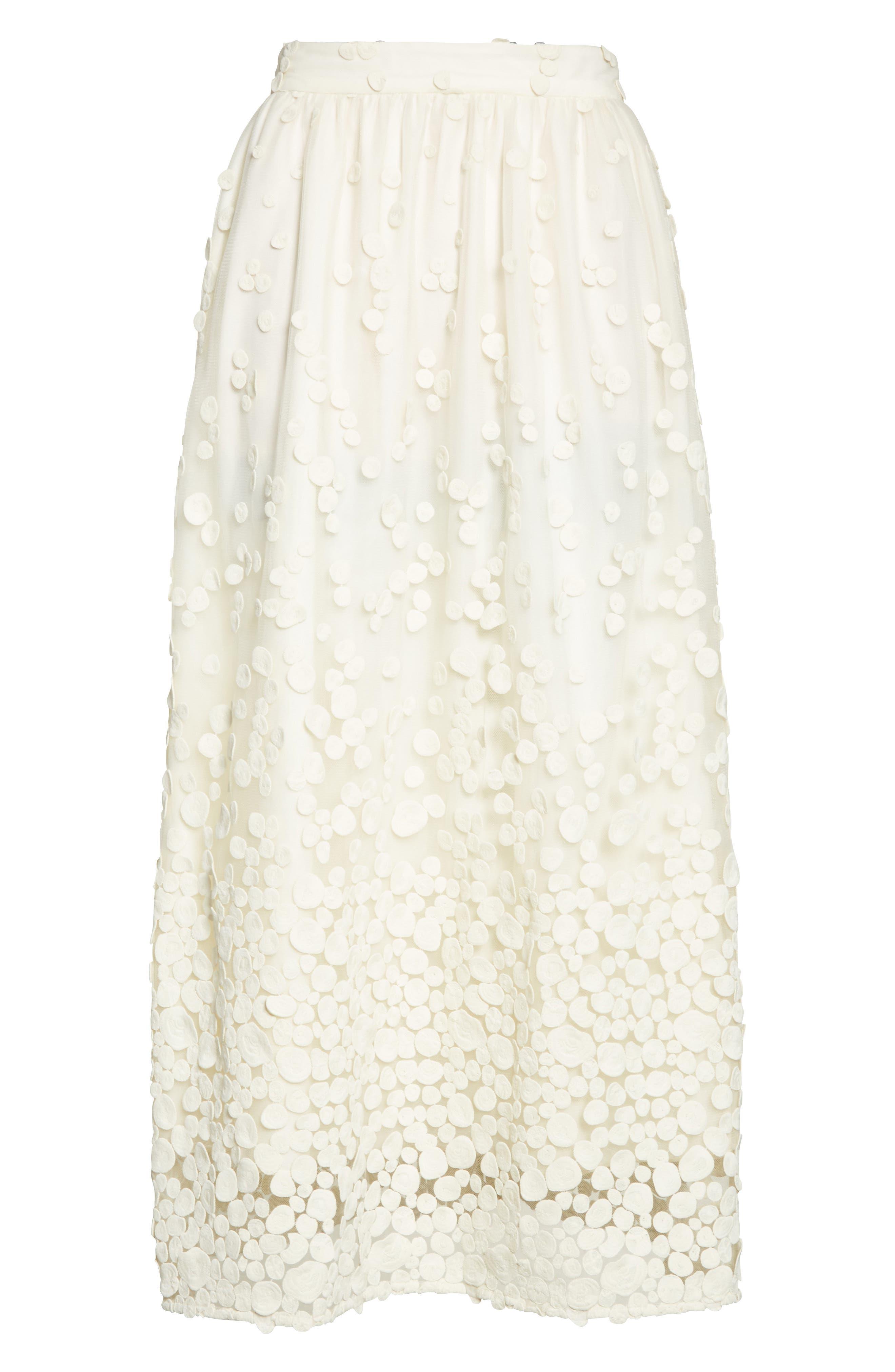 Alternate Image 5  - Co Pebbles Embroidered Mesh Midi Skirt