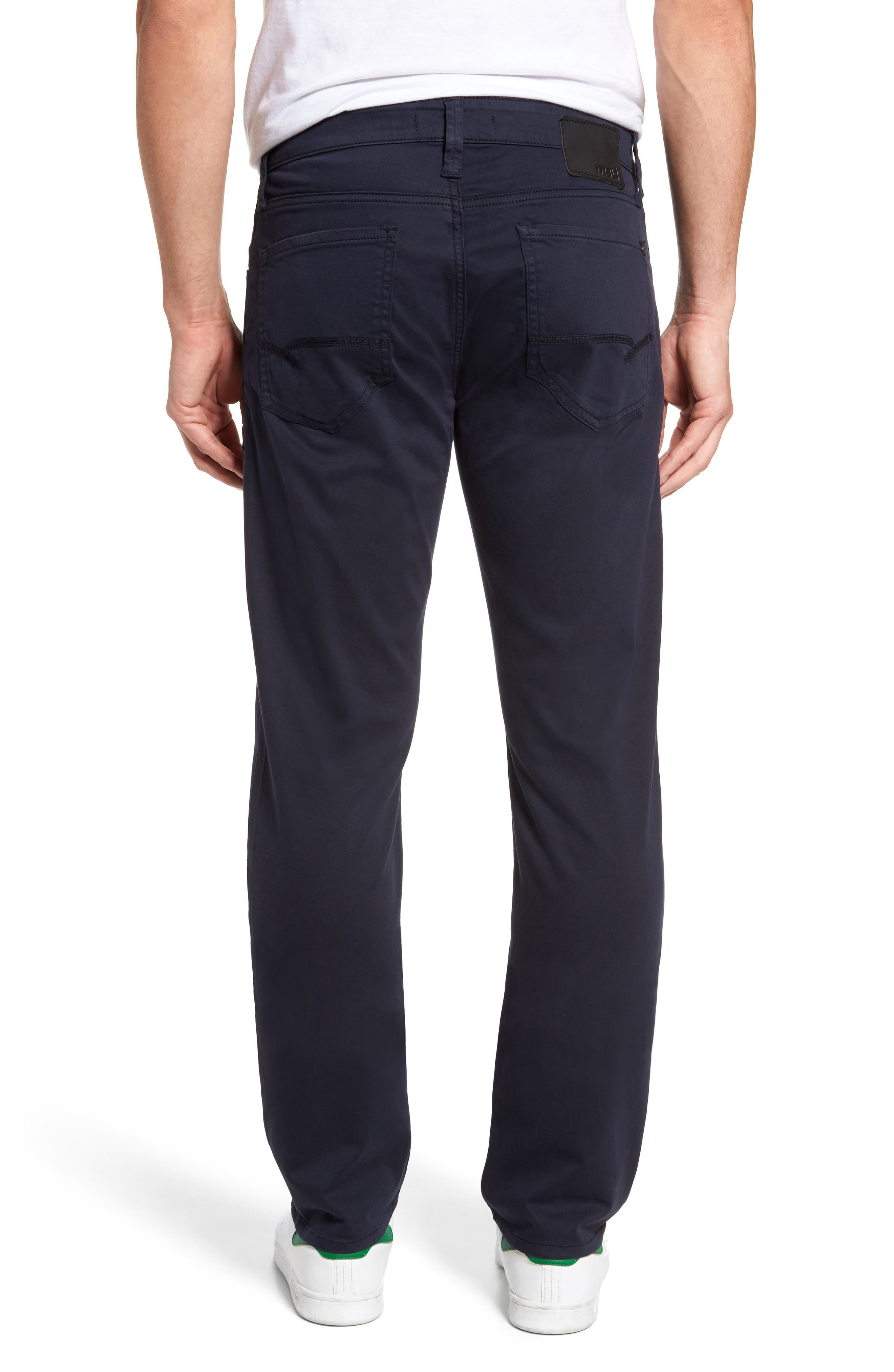 Zach Straight Fit Twill Pants,                             Alternate thumbnail 2, color,                             Dark Navy Twill