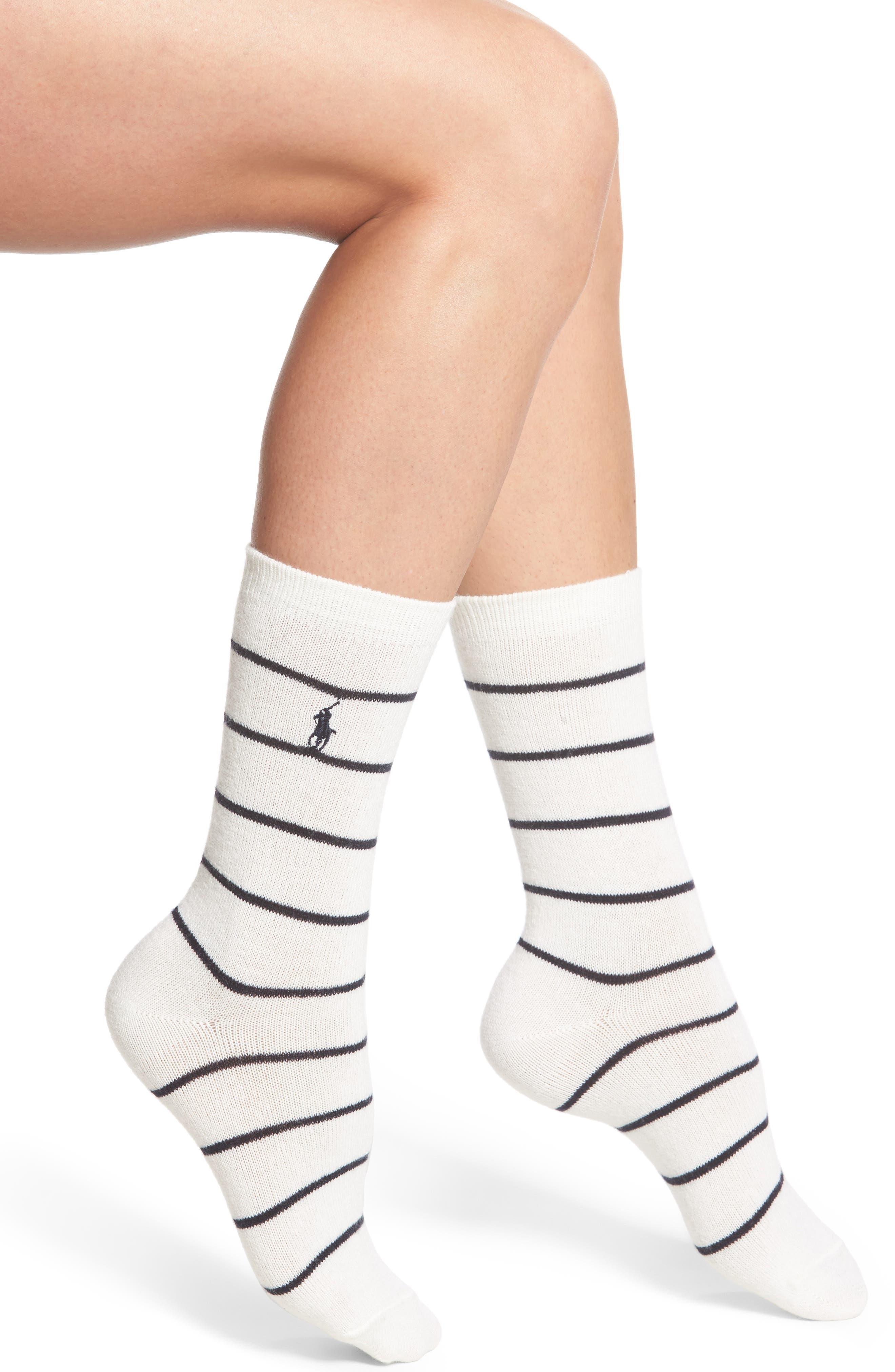 Ralph Lauren St. James Stripe Boot Socks (2 for $24)