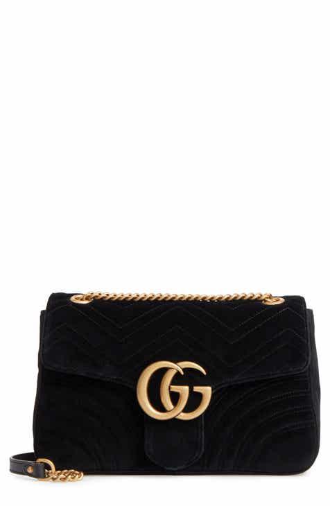 3fe4c27bb Gucci Medium GG Marmont 2.0 Matelassé Velvet Shoulder Bag
