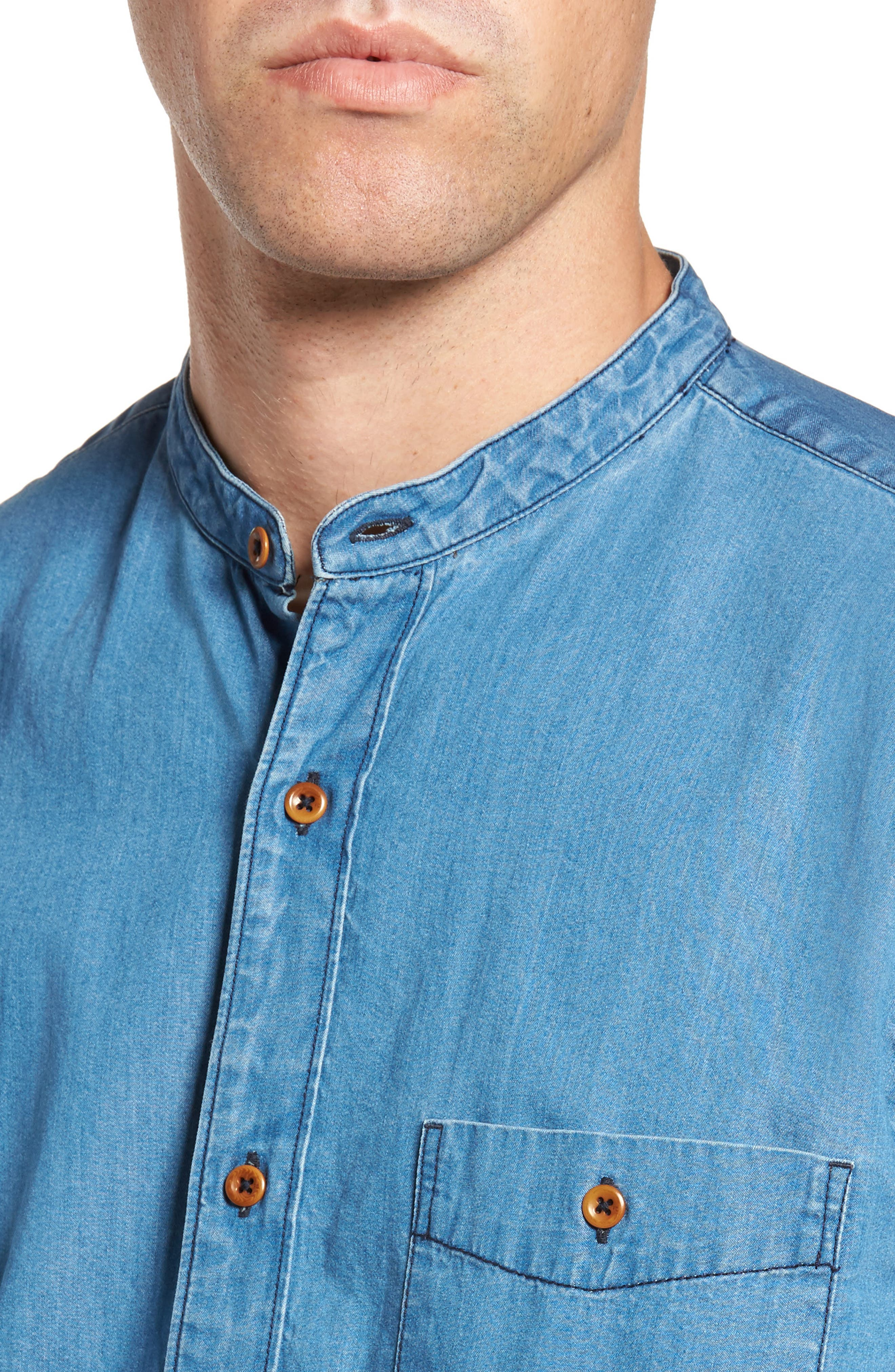 Alternate Image 4  - French Connection The Three Ages of Denim Sport Shirt