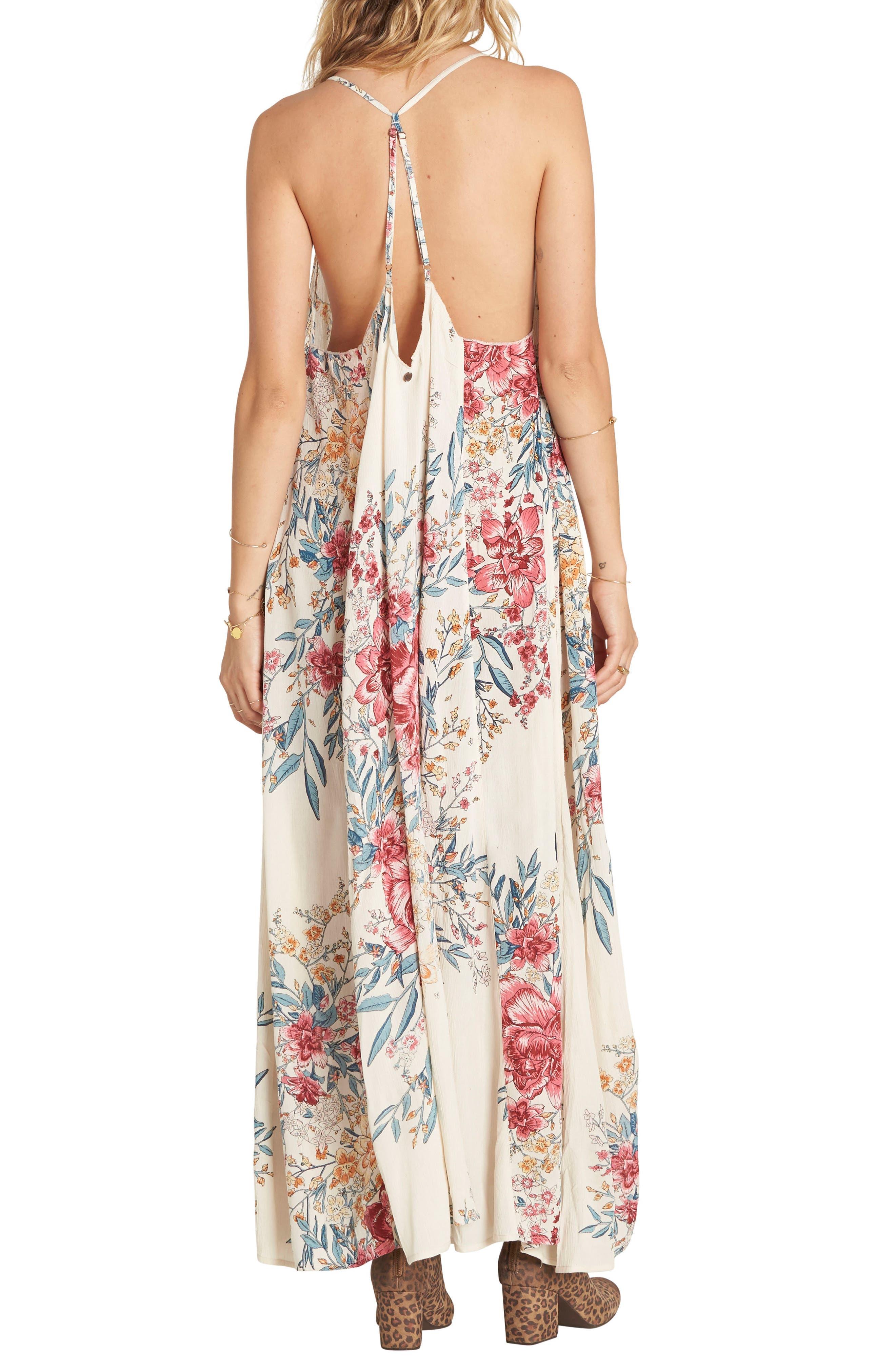 San Sebonne Floral Print Maxi Dress,                             Alternate thumbnail 2, color,                             Ivory