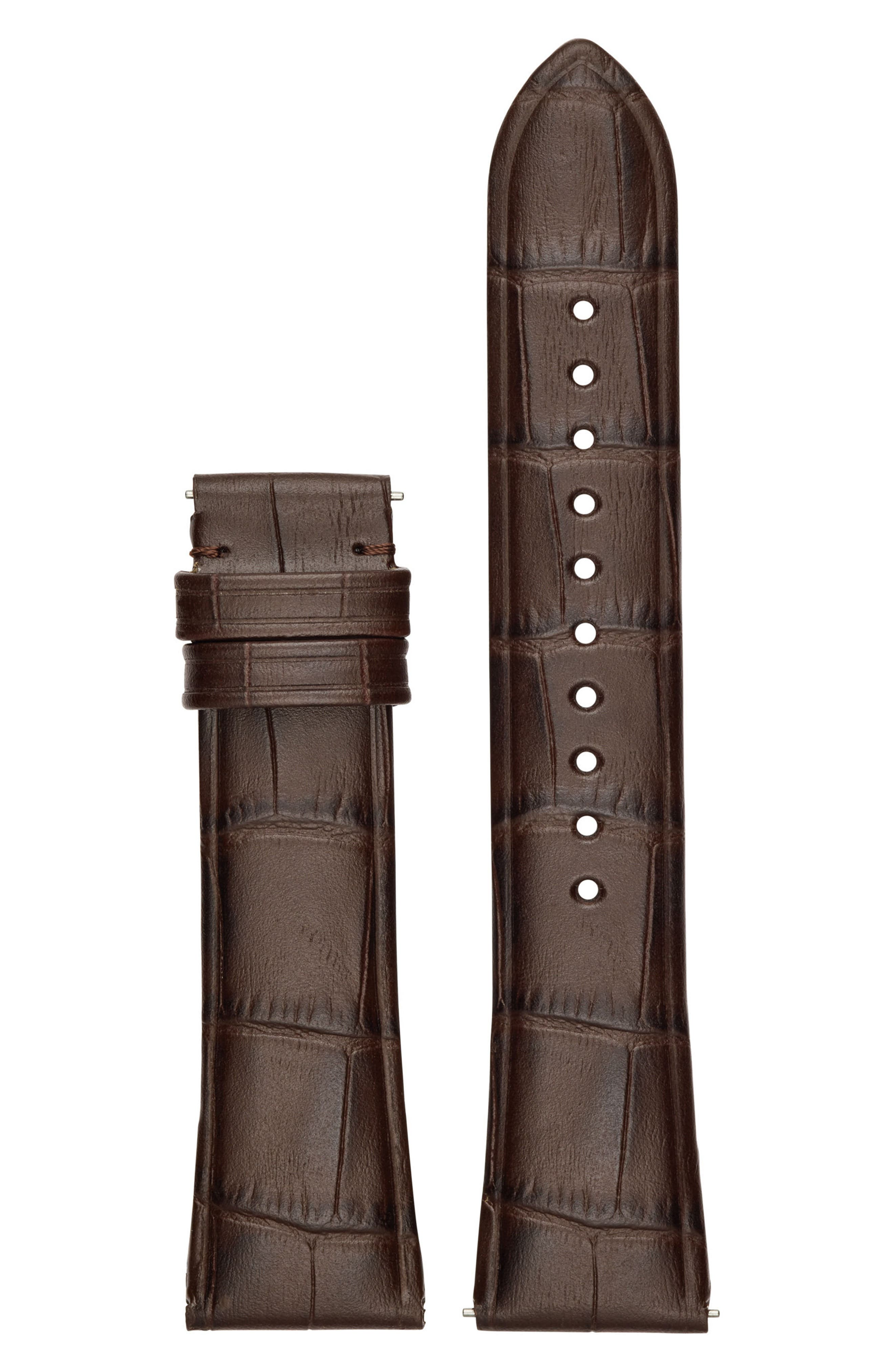 Emporio Armani 22mm Embossed Leather Watch Strap