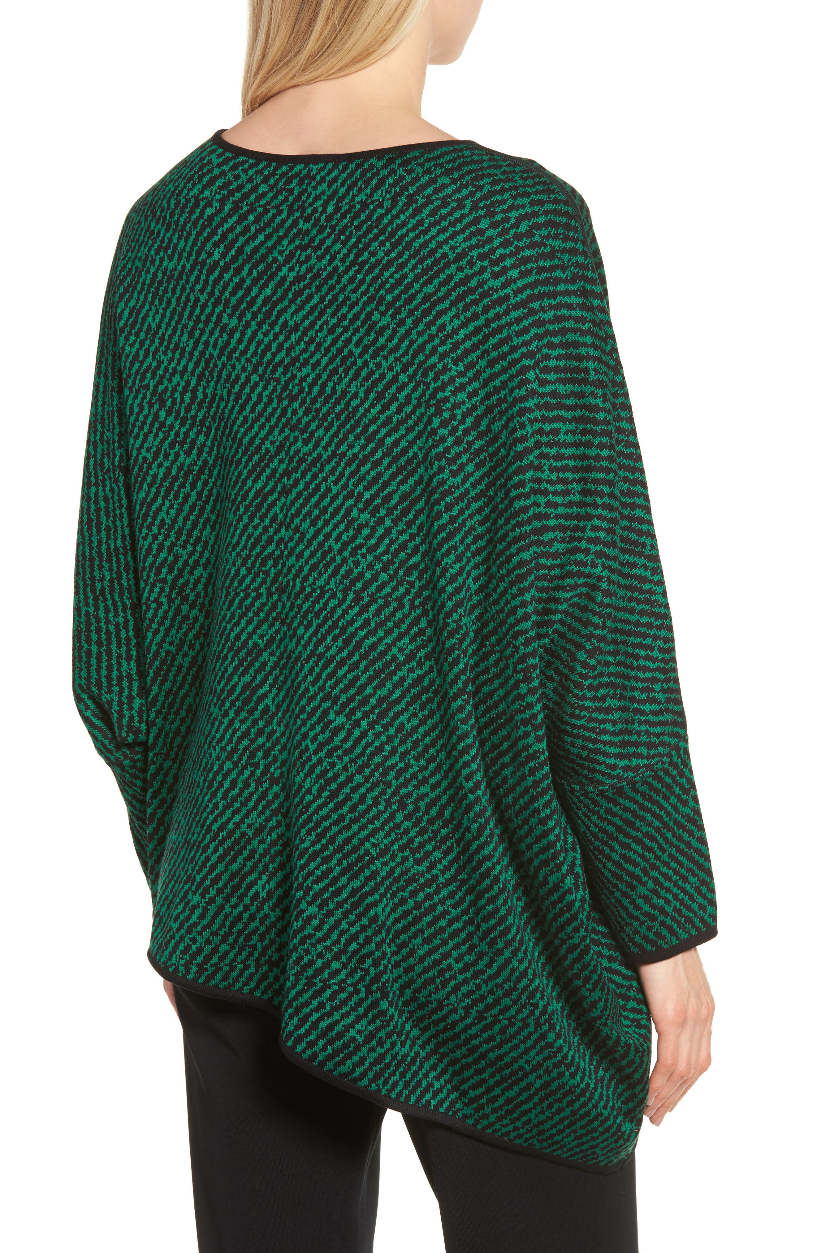 Asymmetrical Sweater,                             Alternate thumbnail 2, color,                             Black/ Viridian