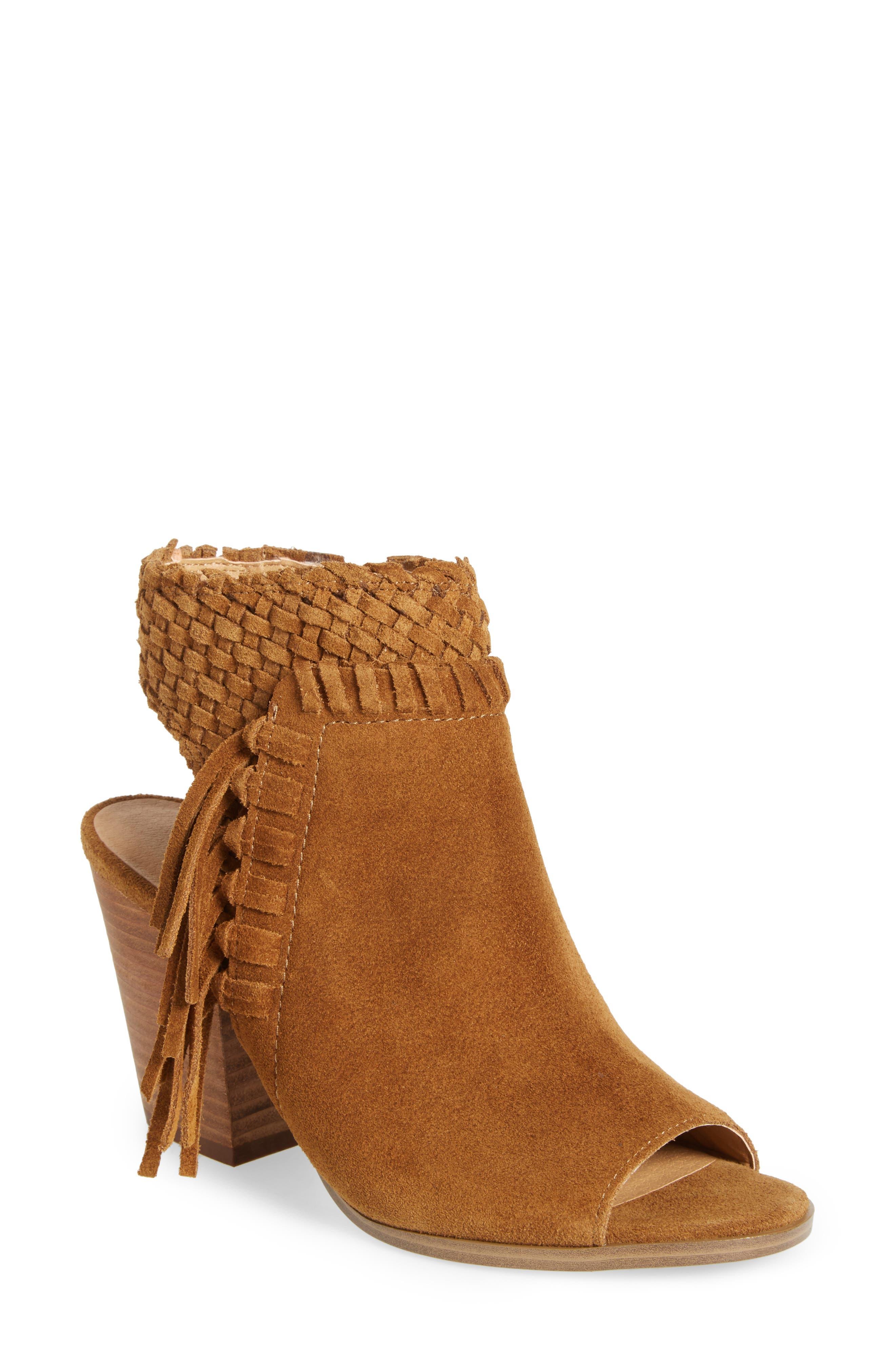 Main Image - Lucky Brand Ointlee Fringe Bootie Sandal (Women)