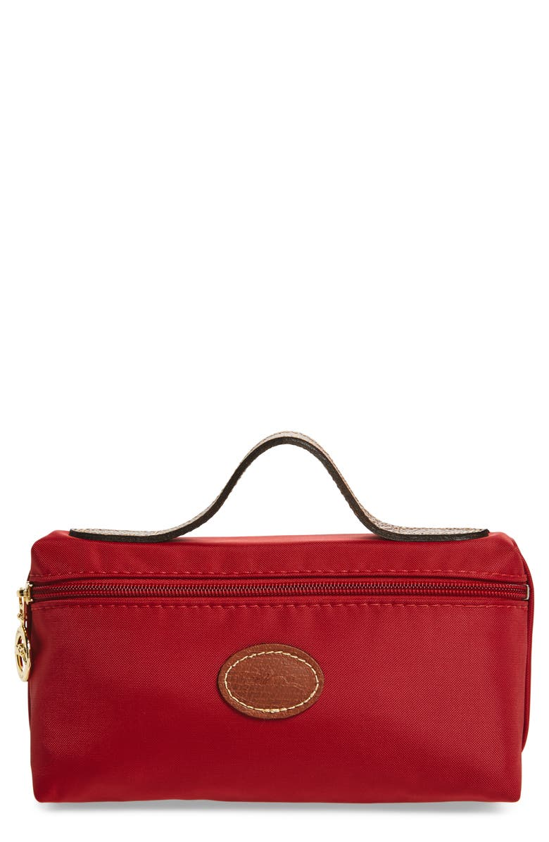 dcc377791b6 Longchamp Le Pliage Nylon Cosmetics Case In Red