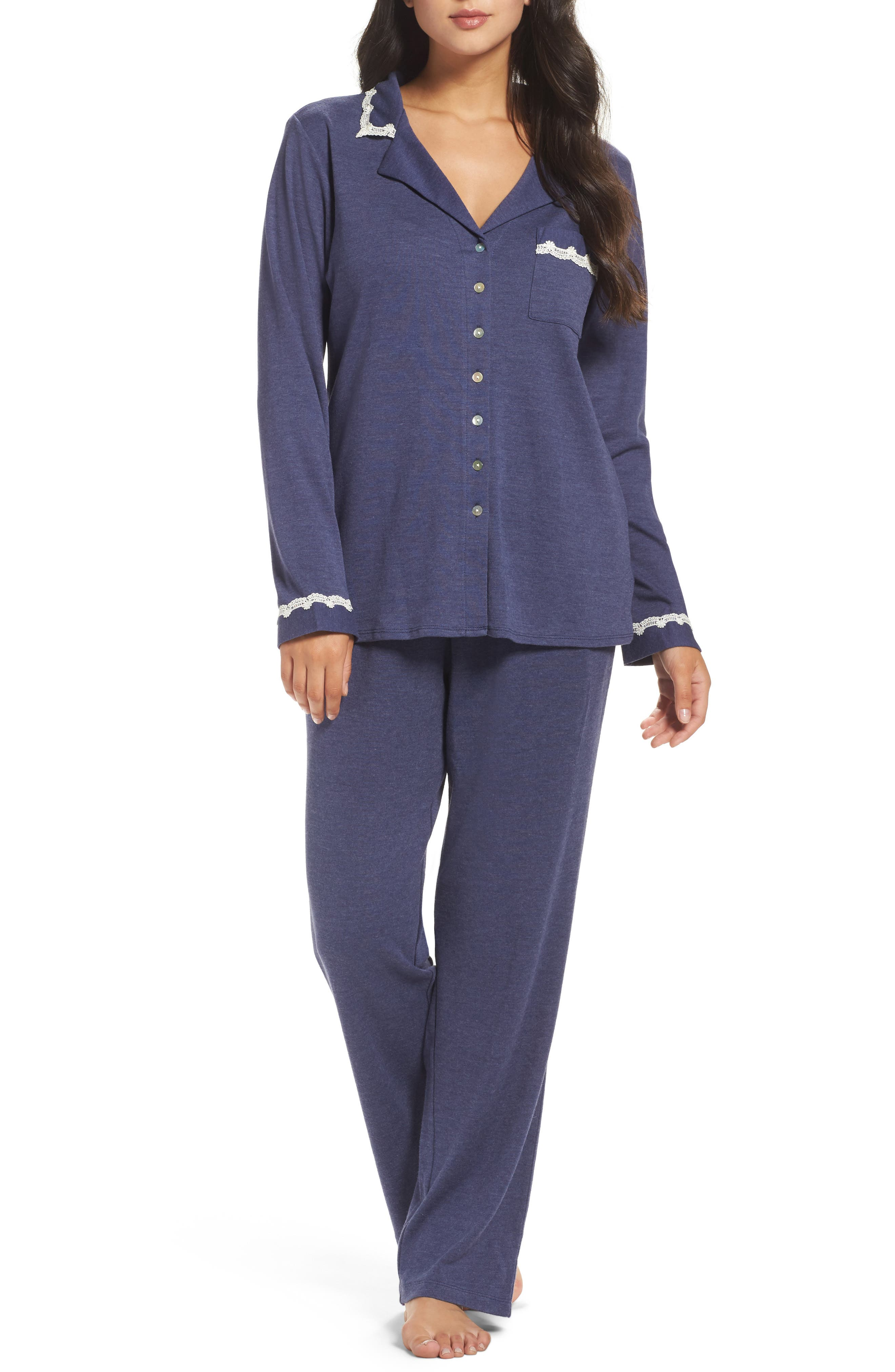 Alternate Image 1 Selected - Eileen West Jersey Pajamas