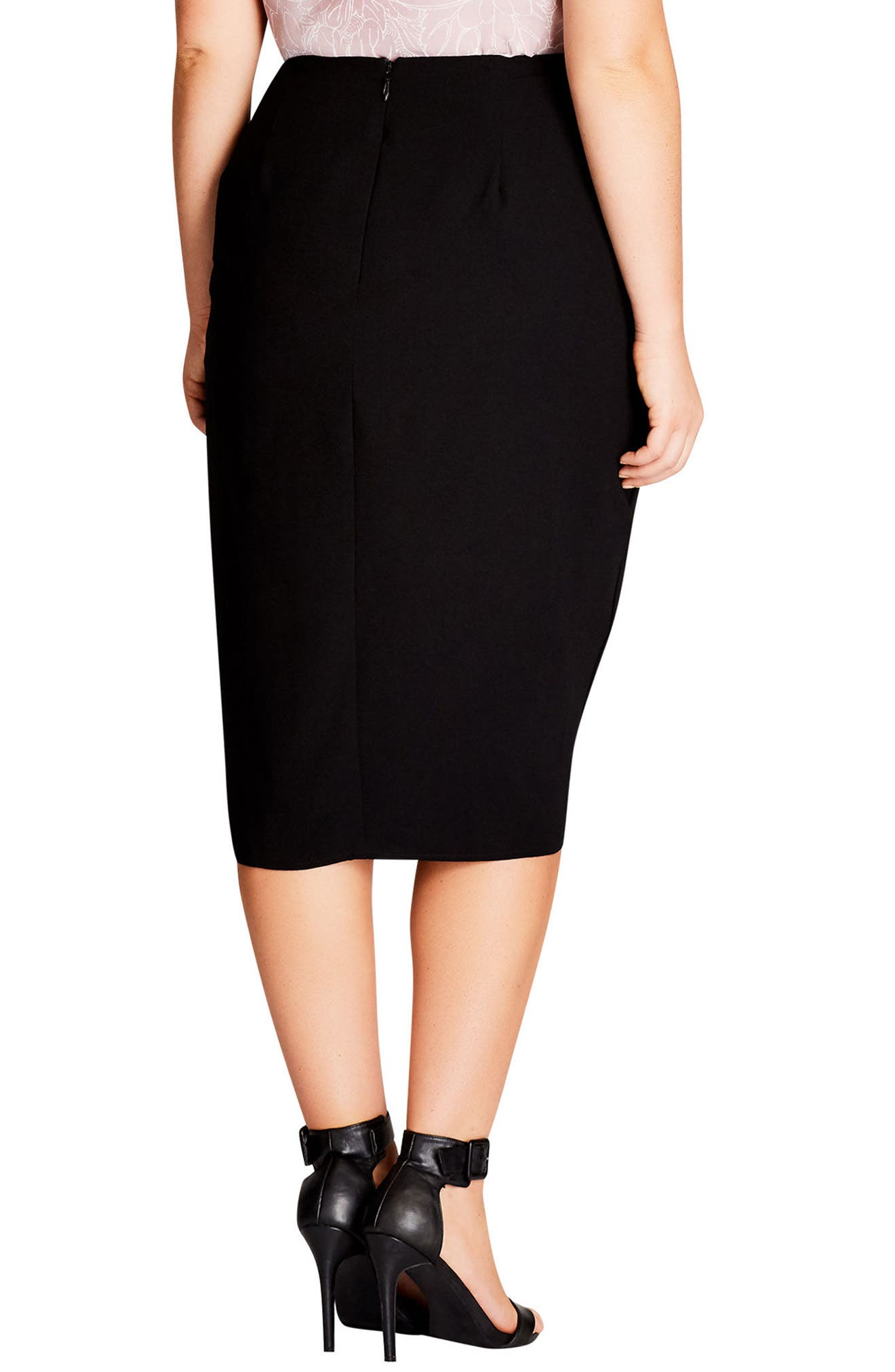 Alternate Image 2  - City Chic Wrapped Up Pencil Skirt (Plus size)