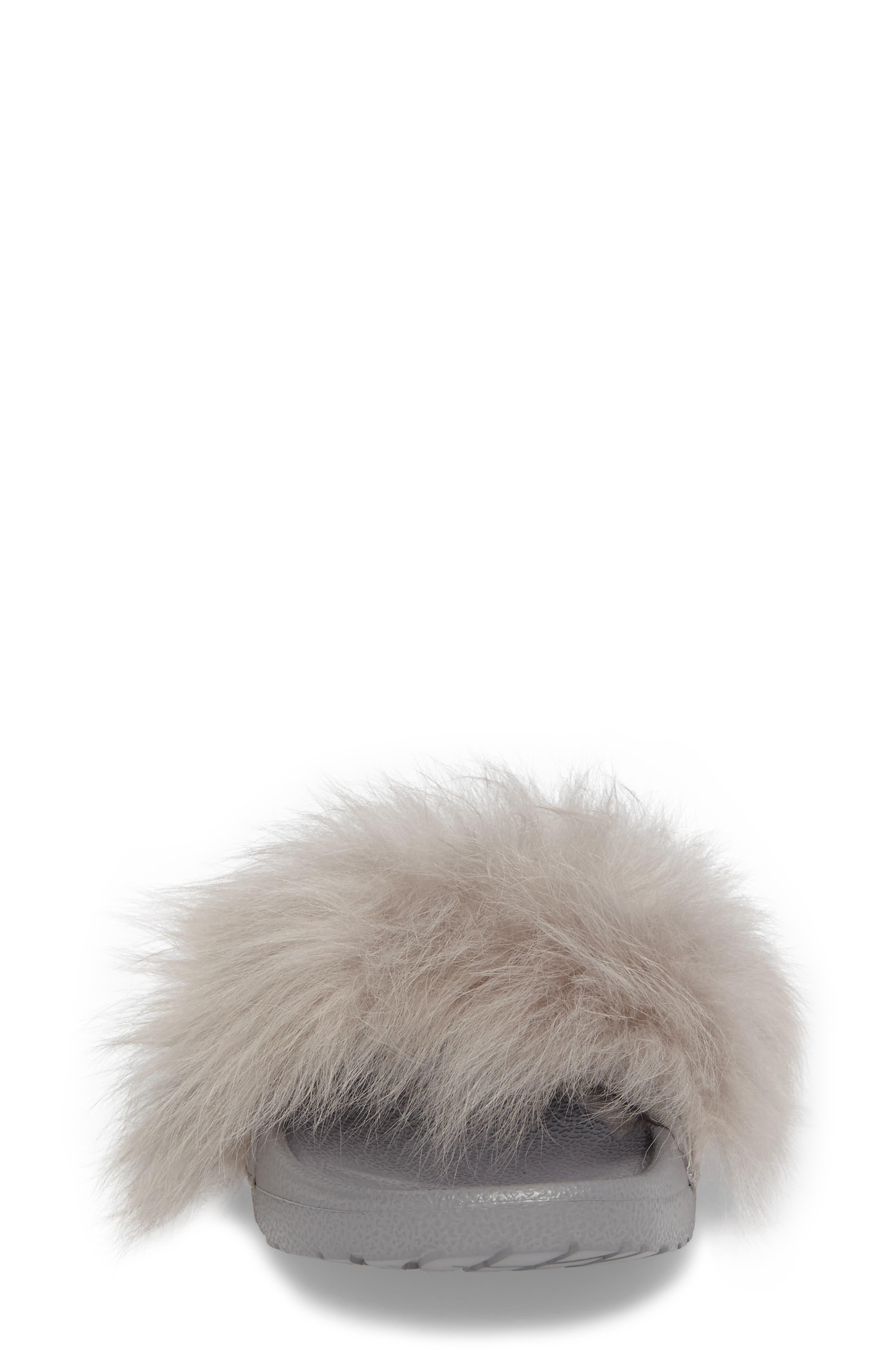 Royale Genuine Shearling Slide Sandal,                             Alternate thumbnail 4, color,                             Seal
