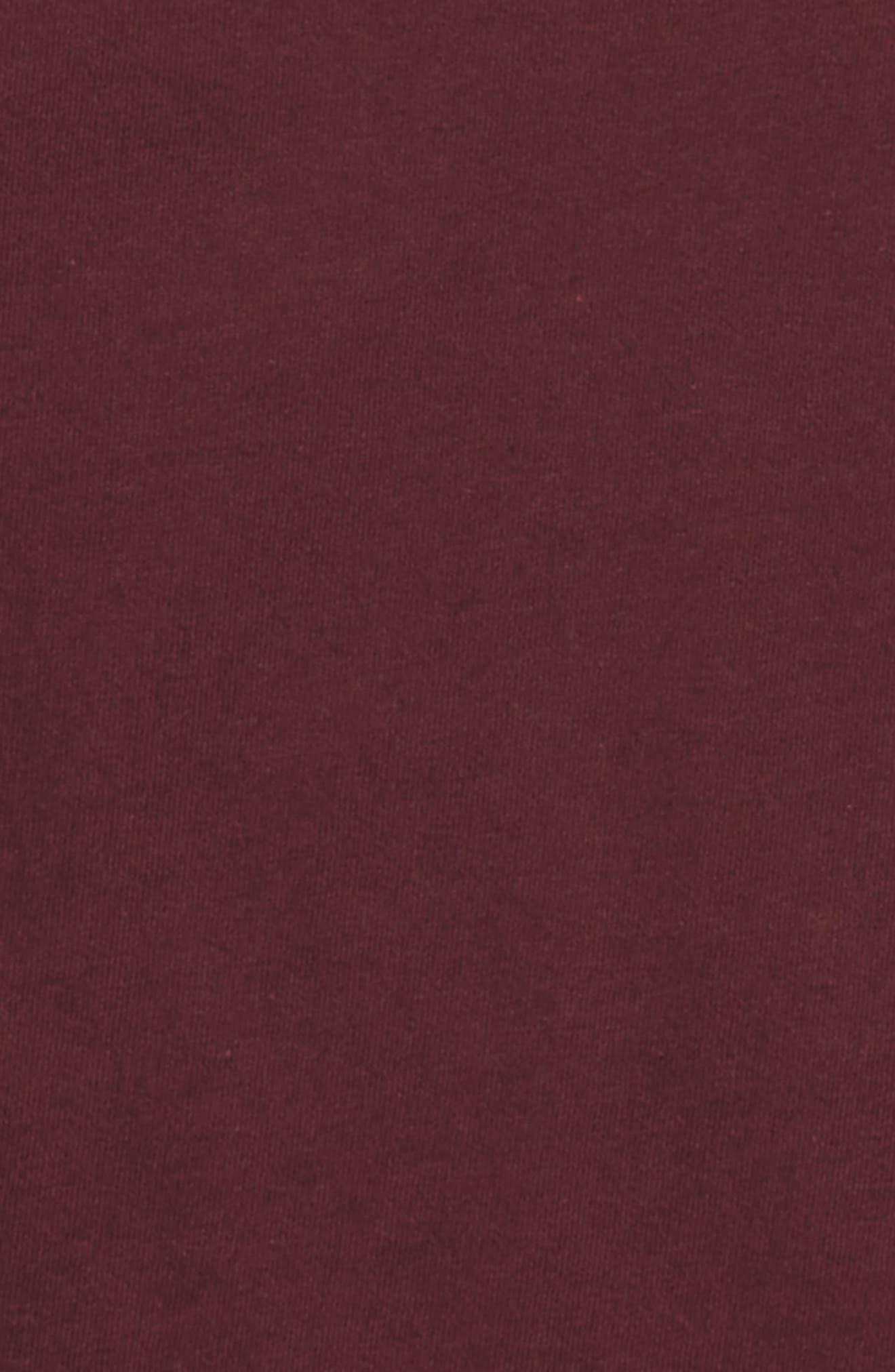V-Neck Organic Cotton T-Shirt,                             Alternate thumbnail 2, color,                             Deep Autumn