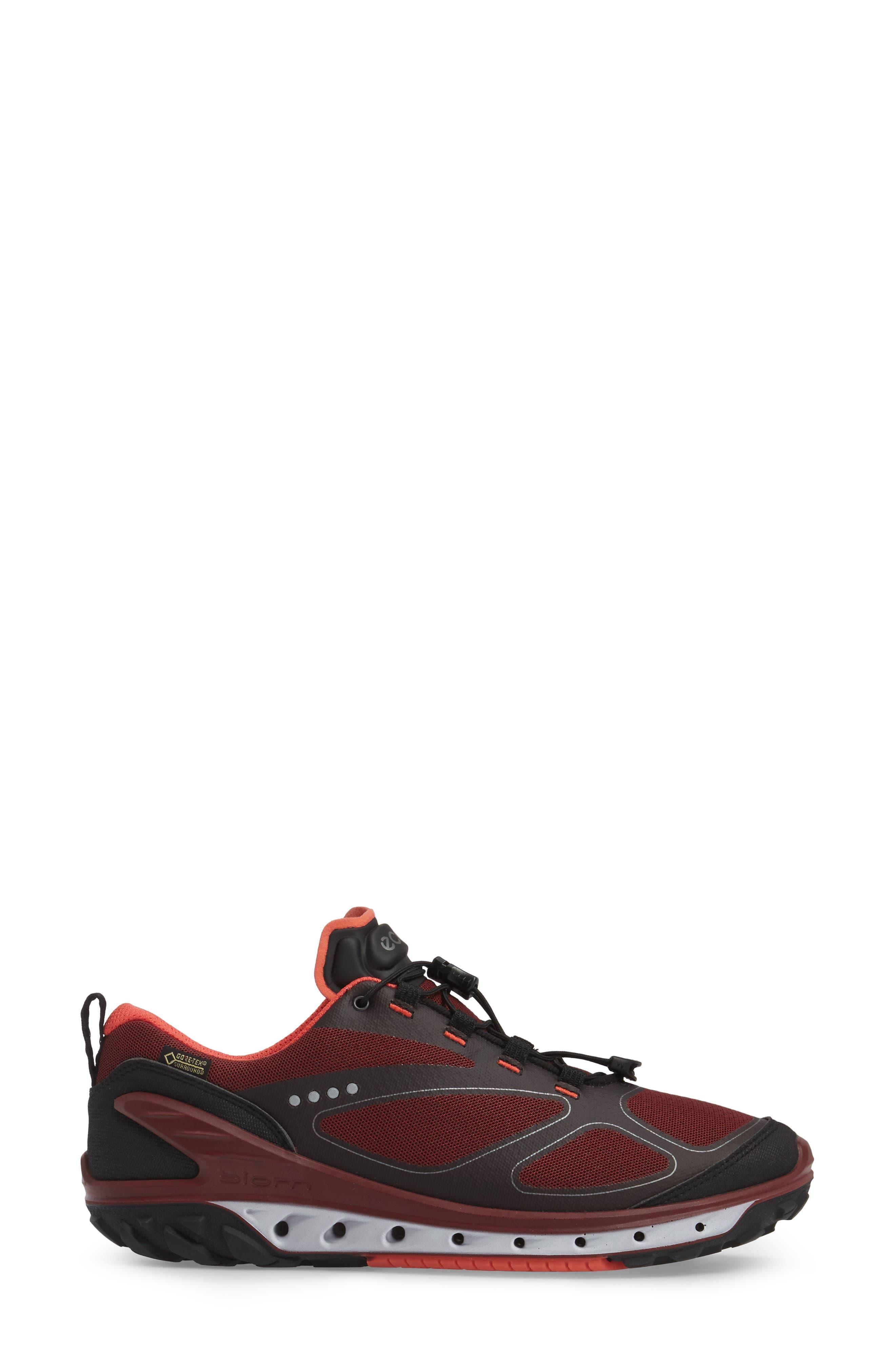 BIOM Venture GTX Sneaker,                             Alternate thumbnail 3, color,                             Black/ Coral Blush Fabric