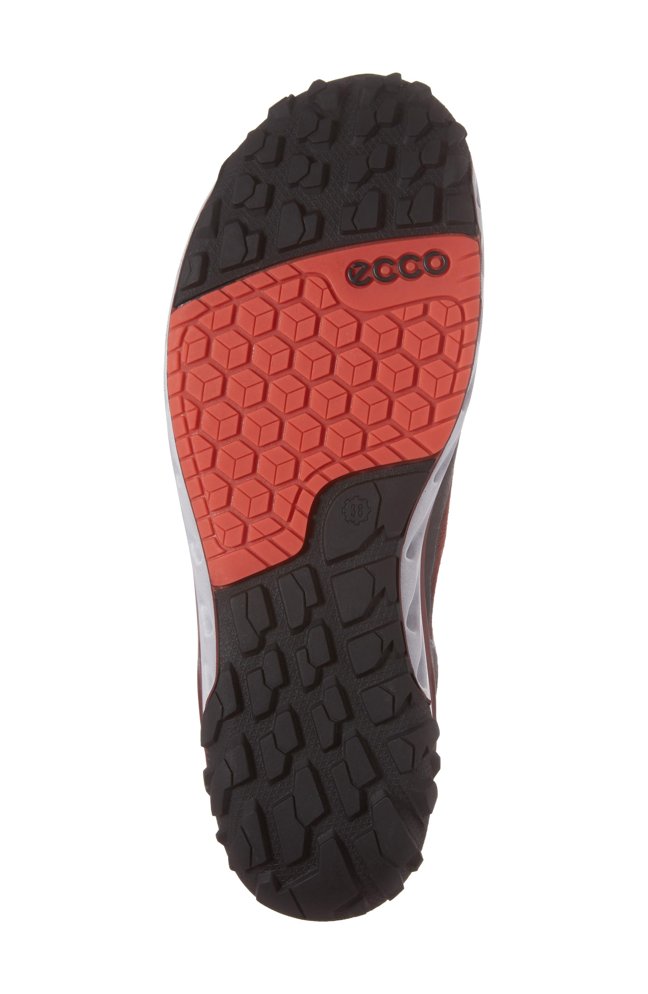 BIOM Venture GTX Sneaker,                             Alternate thumbnail 6, color,                             Black/ Coral Blush Fabric