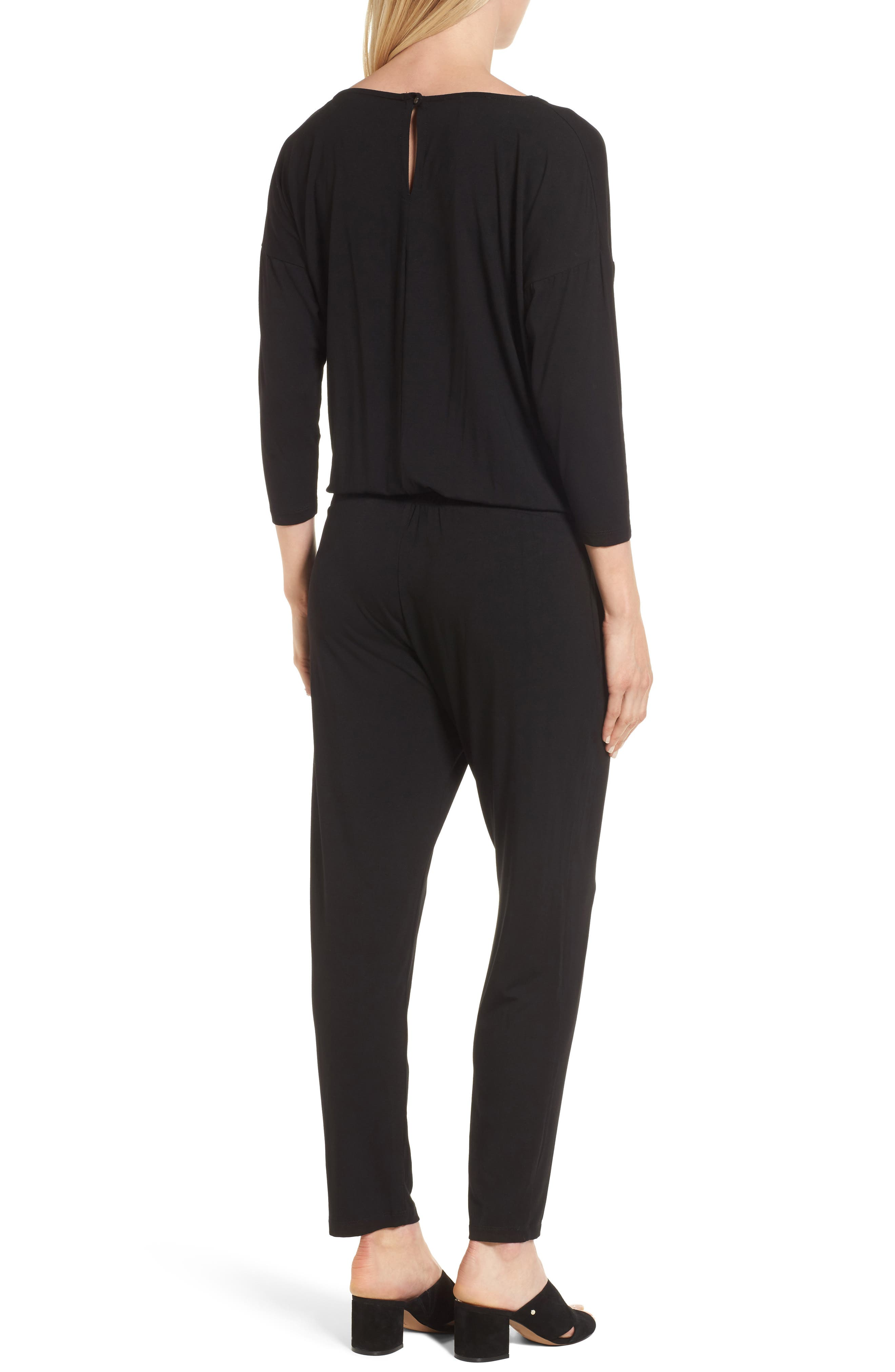 Chloe Maternity Jumpsuit,                             Alternate thumbnail 2, color,                             Caviar Black