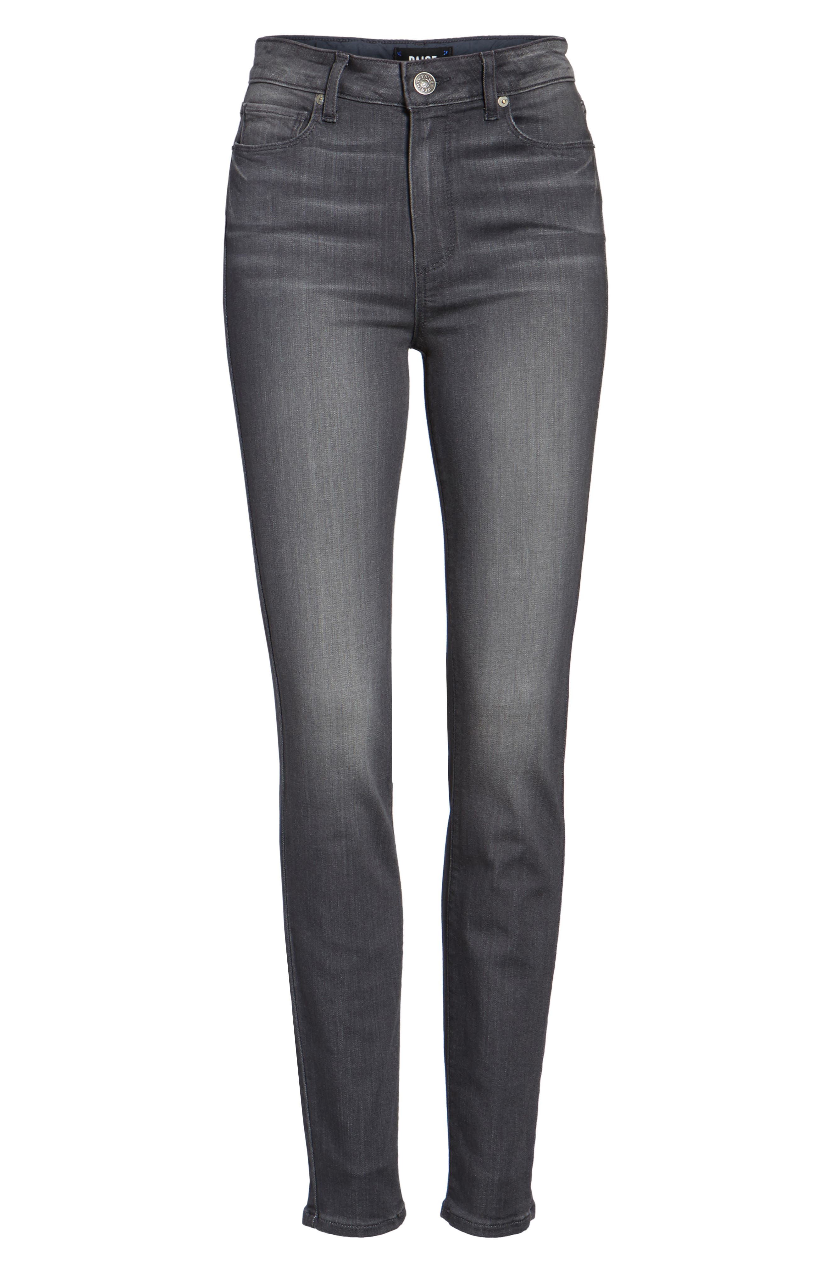 Alternate Image 6  - PAIGE Transcend - Hoxton High Waist Ultra Skinny Jeans (Summit Grey)