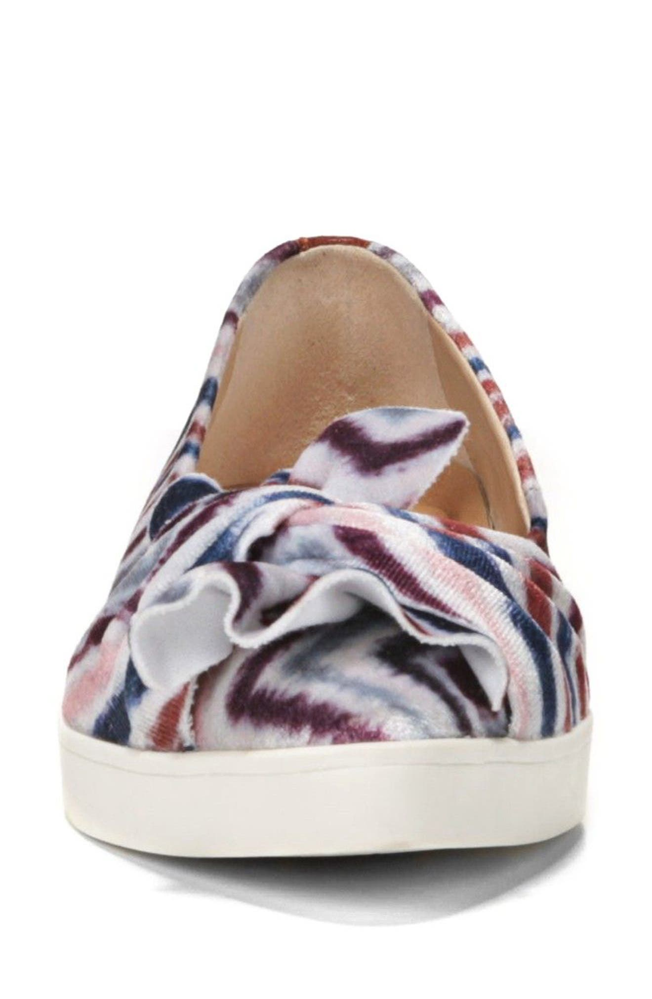 Viv Knotted Sneaker,                             Alternate thumbnail 5, color,                             Henna Printed Suede