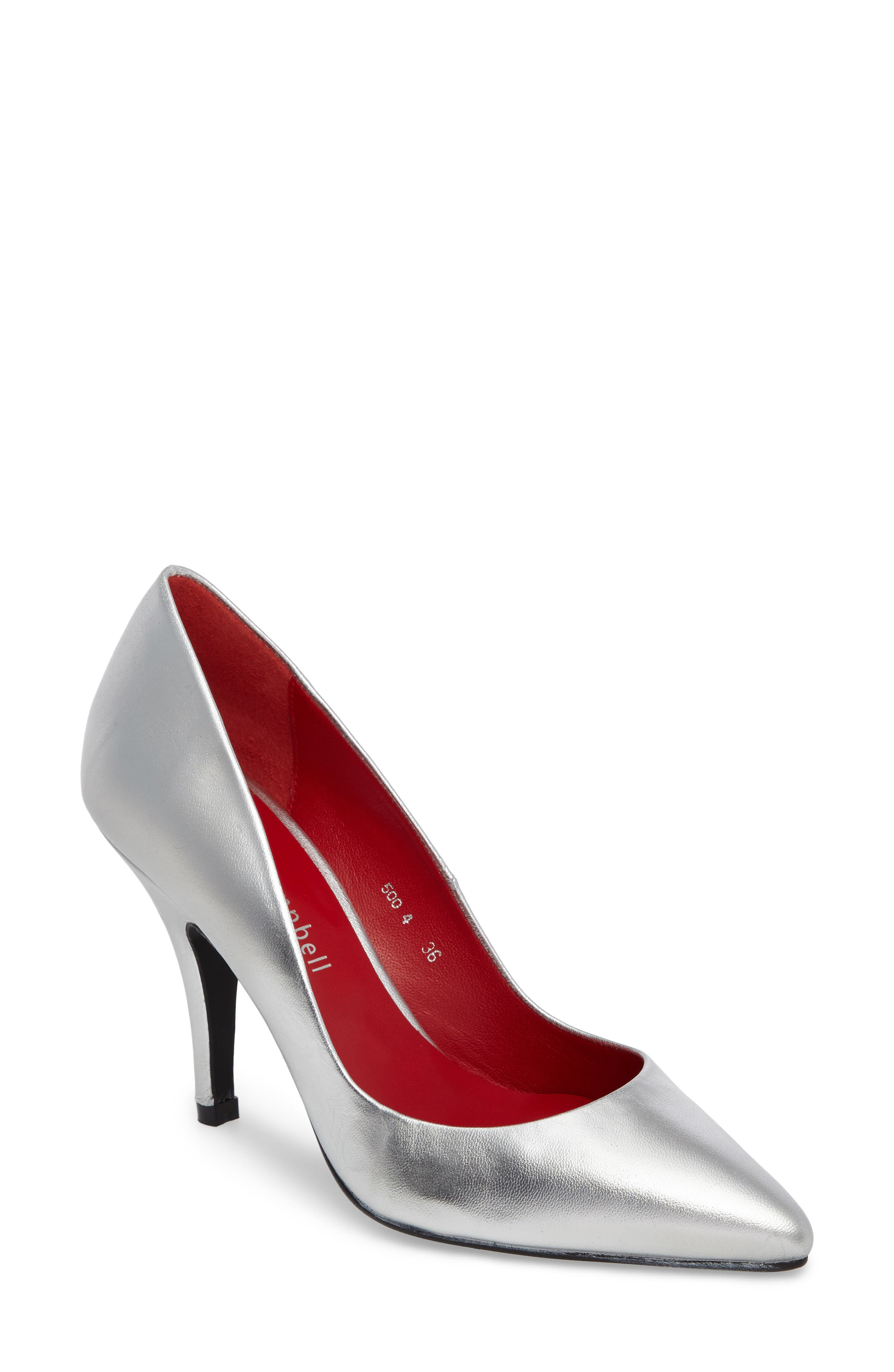 Sachi Pointy Toe Pump,                         Main,                         color, Silver