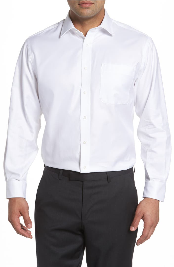 Nordstrom men 39 s shop classic fit textured dress shirt for Men s regular fit shirts