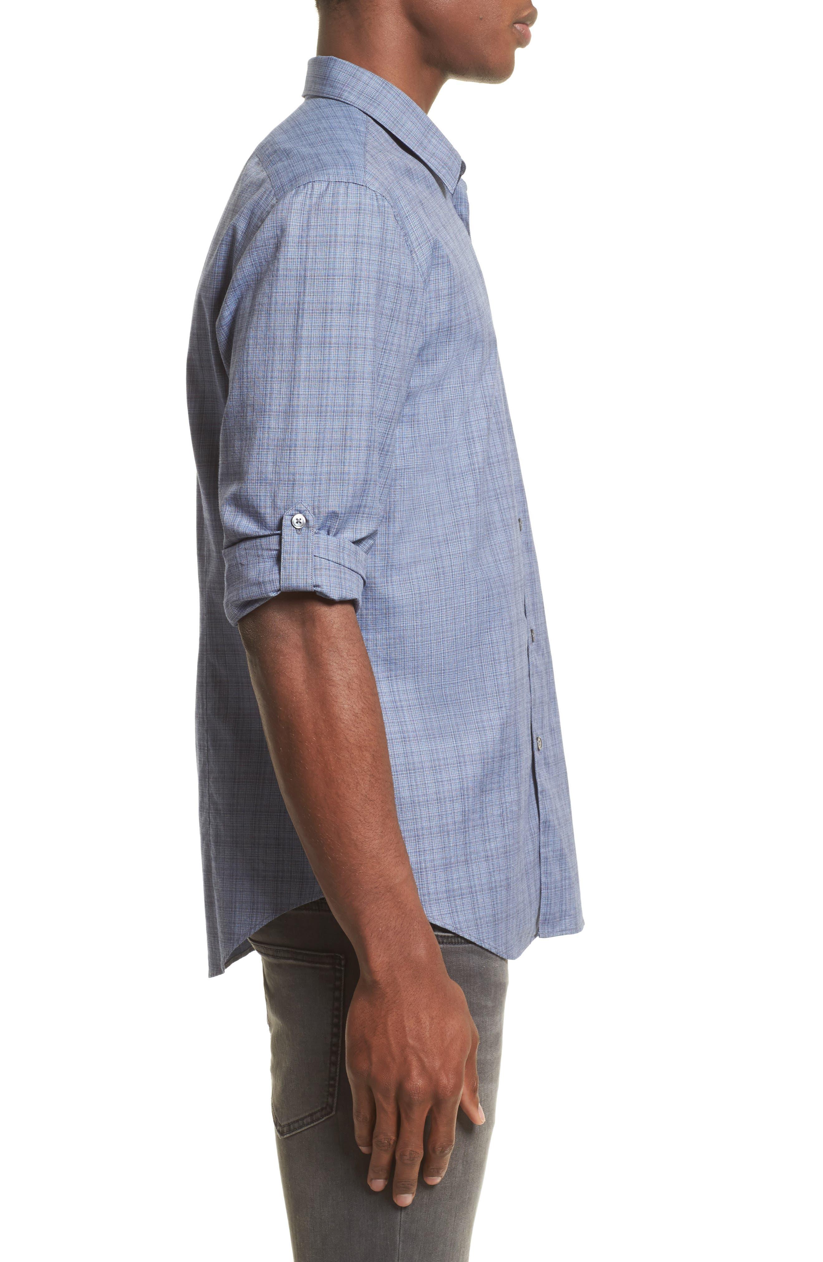 Alternate Image 3  - John Varvatos Collection Moiré Check Sport Shirt