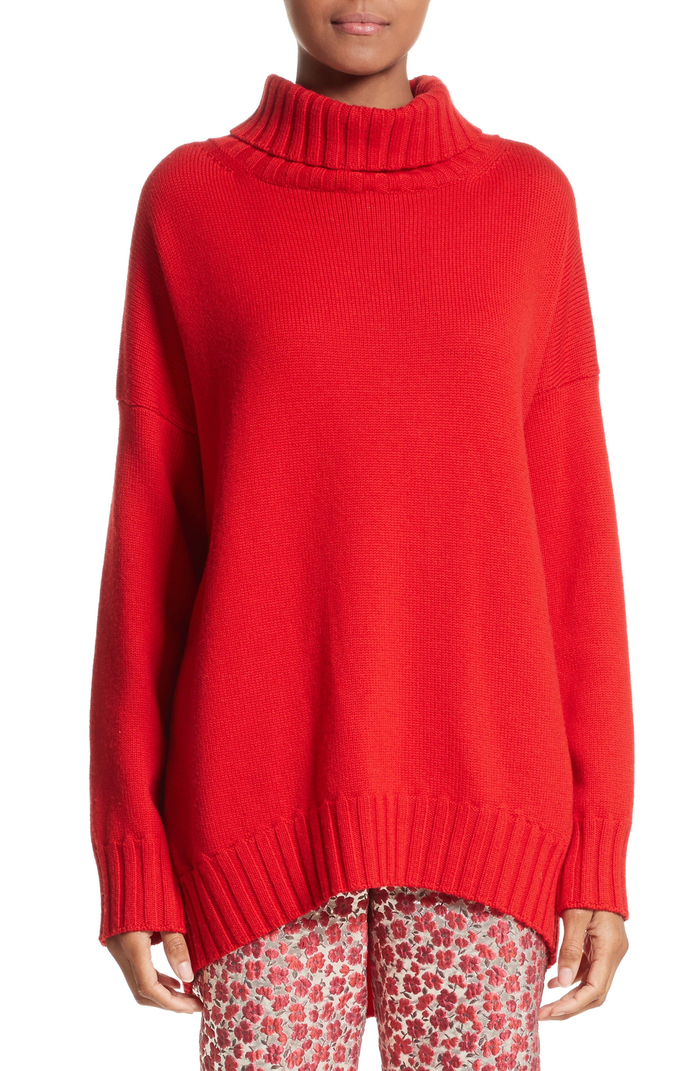 Alternate Image 1 Selected - Oscar de la Renta Virgin Wool Turtleneck Sweater