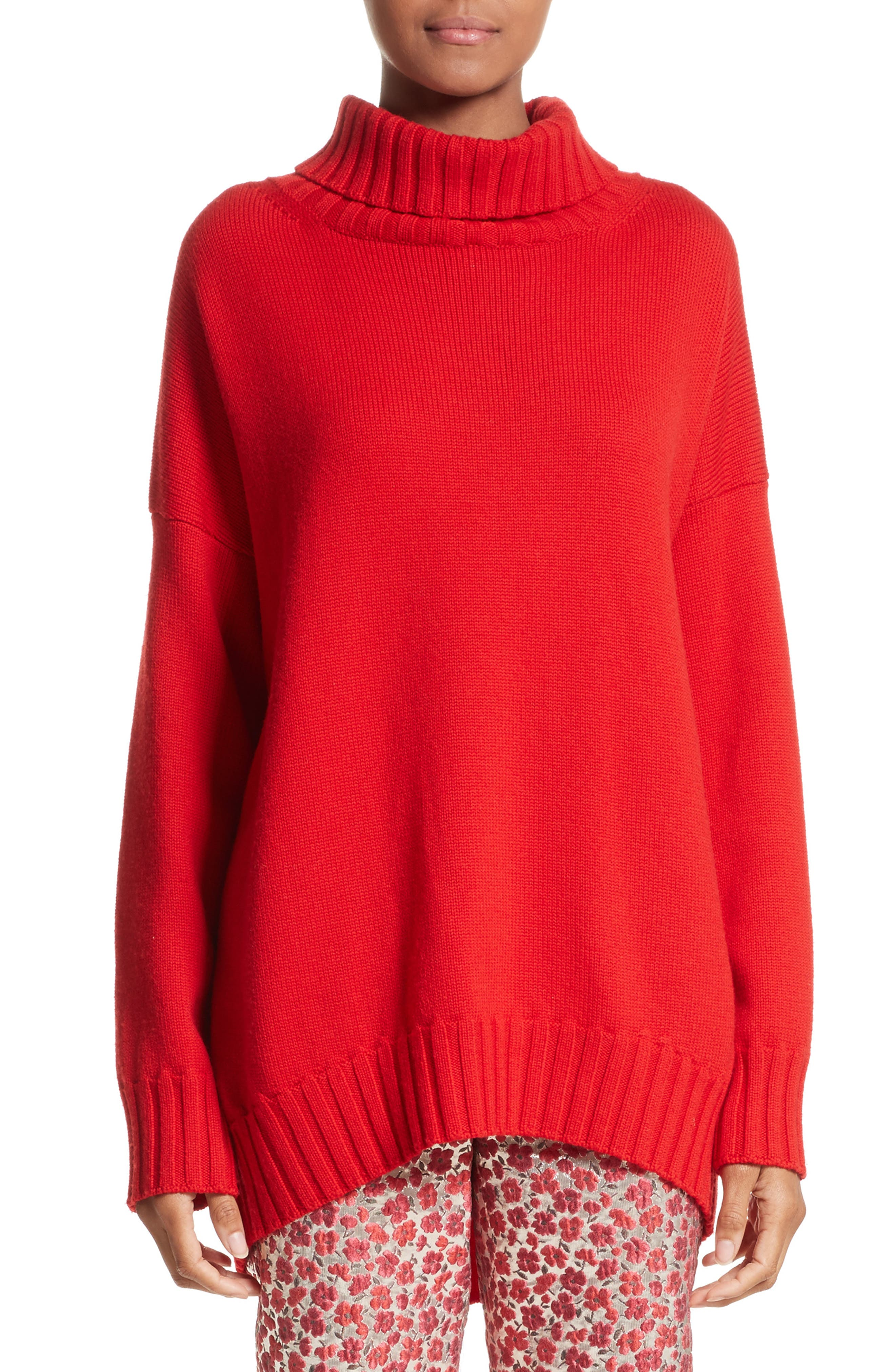 Oscar de la Renta Virgin Wool Turtleneck Sweater