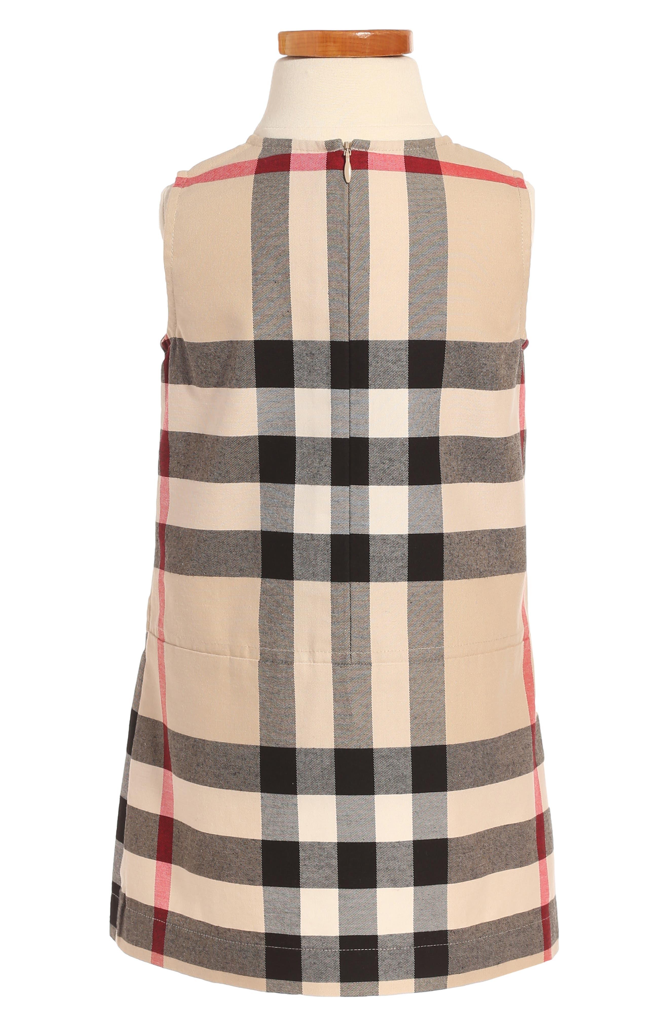Alternate Image 2  - Burberry Dawny Check Print Sleeveless Dress (Toddler Girls)