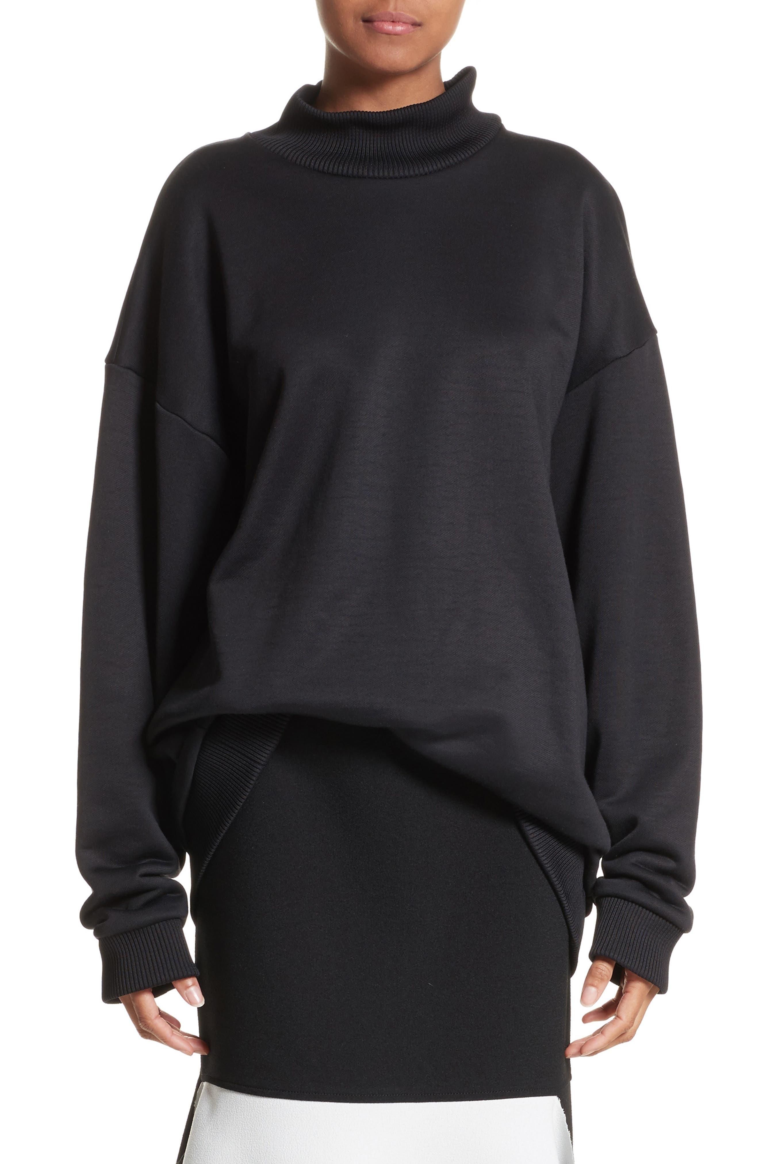 Marques'Almeida Oversize Mock Neck Sweatshirt