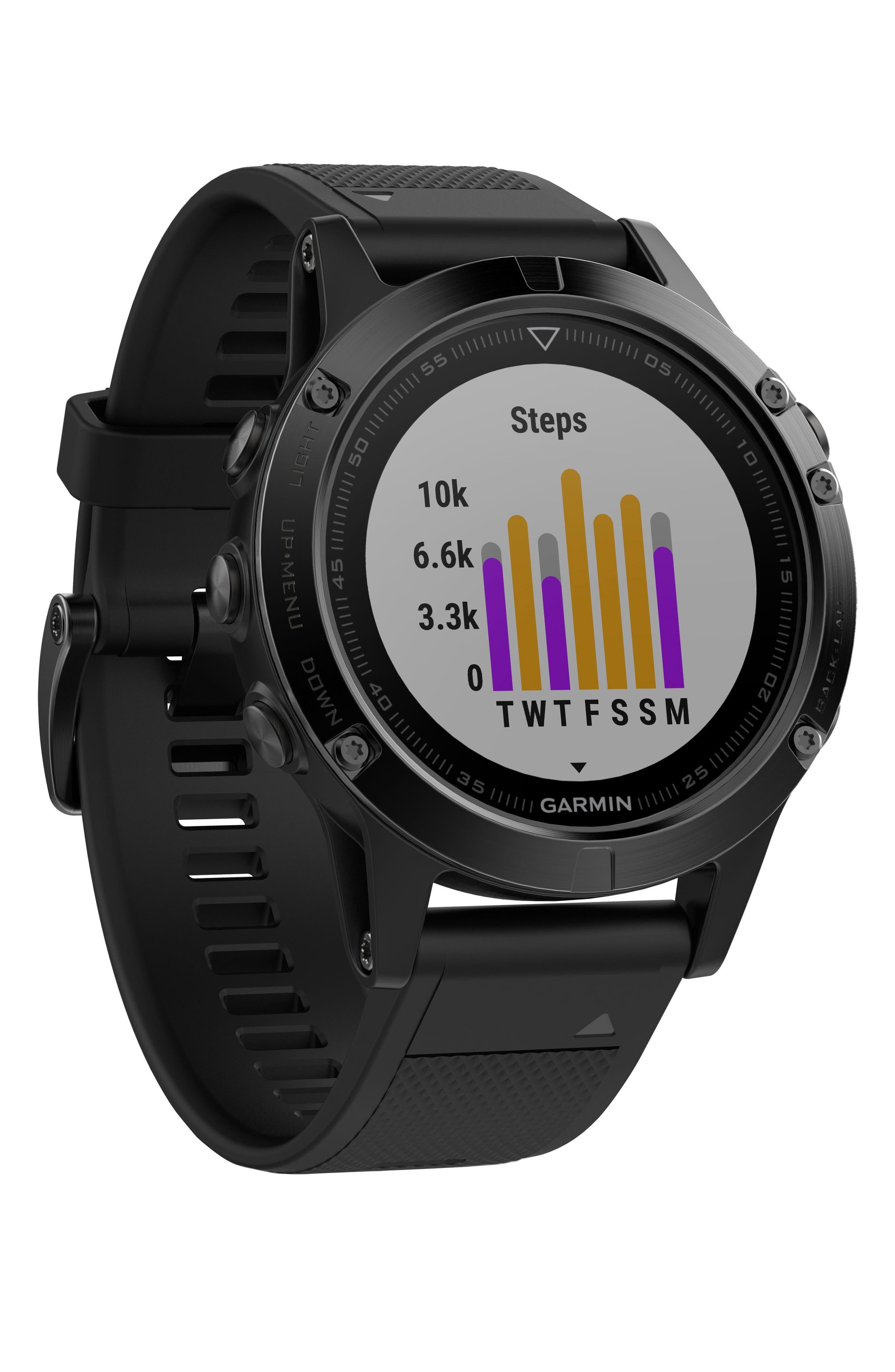 Alternate Image 1 Selected - Garmin Fenix 5 Multisport GPS Smart Tracker Watch, 47mm