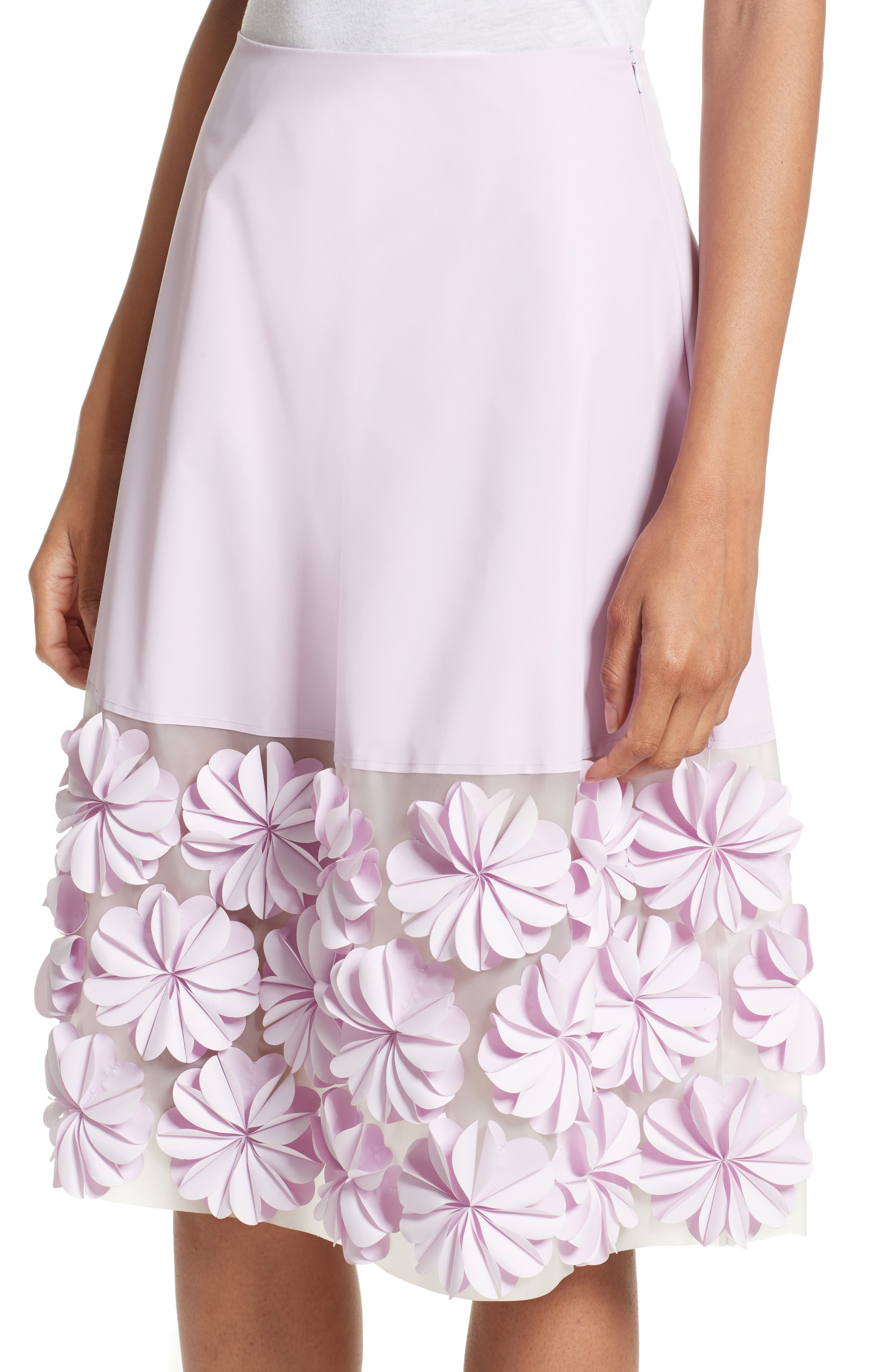 Alternate Image 4  - PASKAL Reflective Floral Appliqué Skirt
