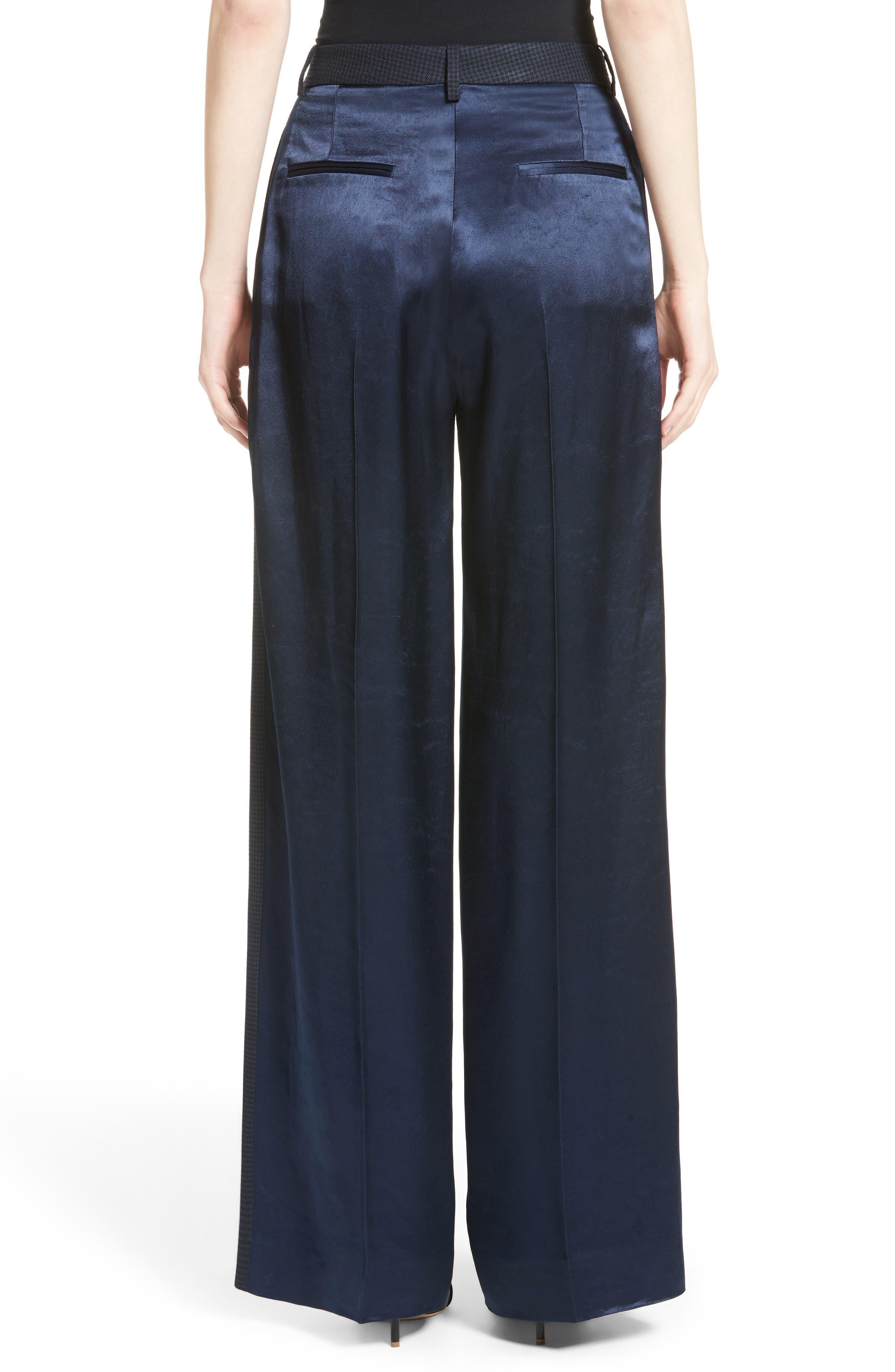 Alternate Image 3  - Victoria Beckham Houndstooth Wide Leg Pants