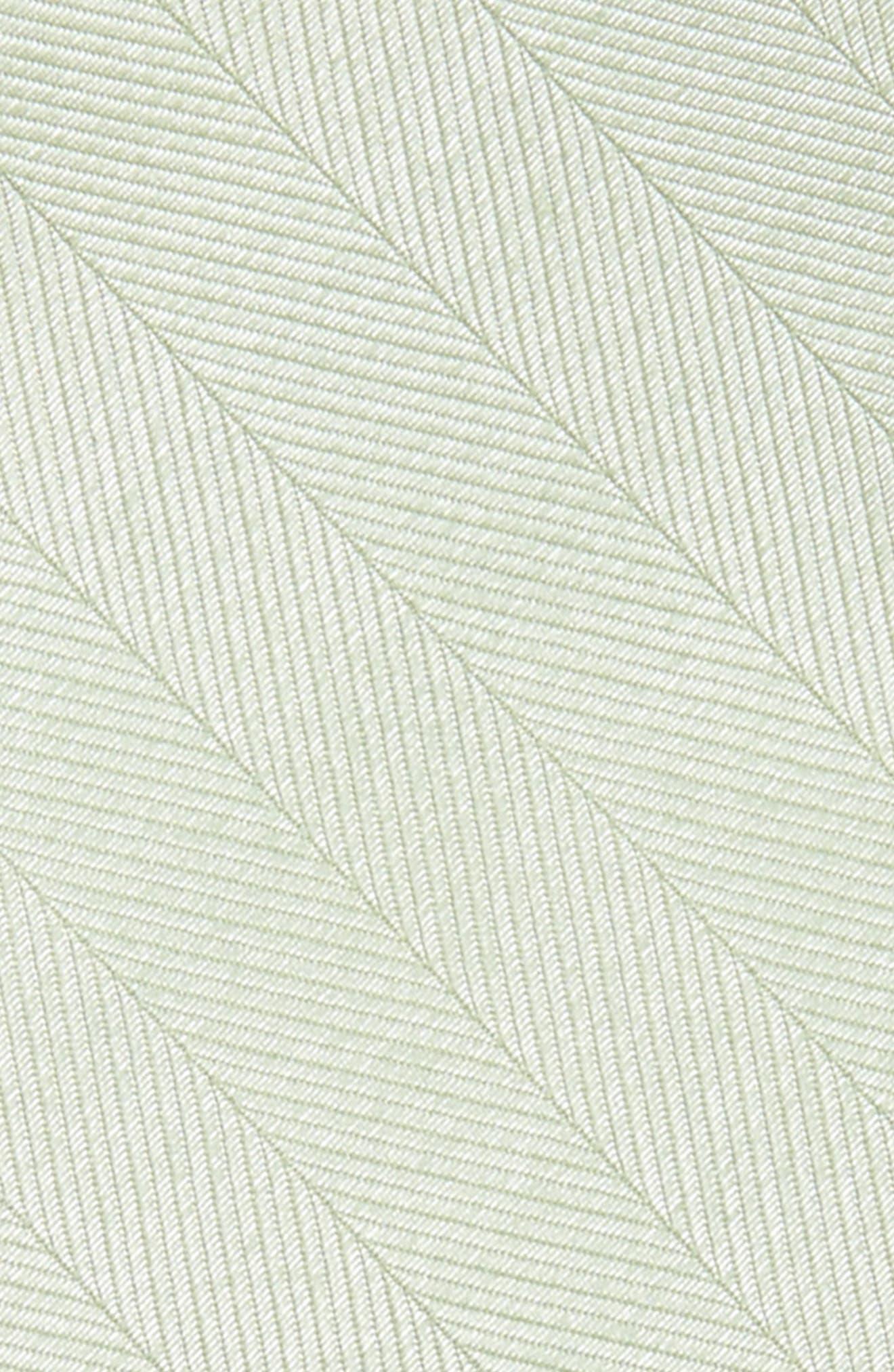 Herringbone Silk Bow Tie,                             Alternate thumbnail 3, color,                             Sage Green