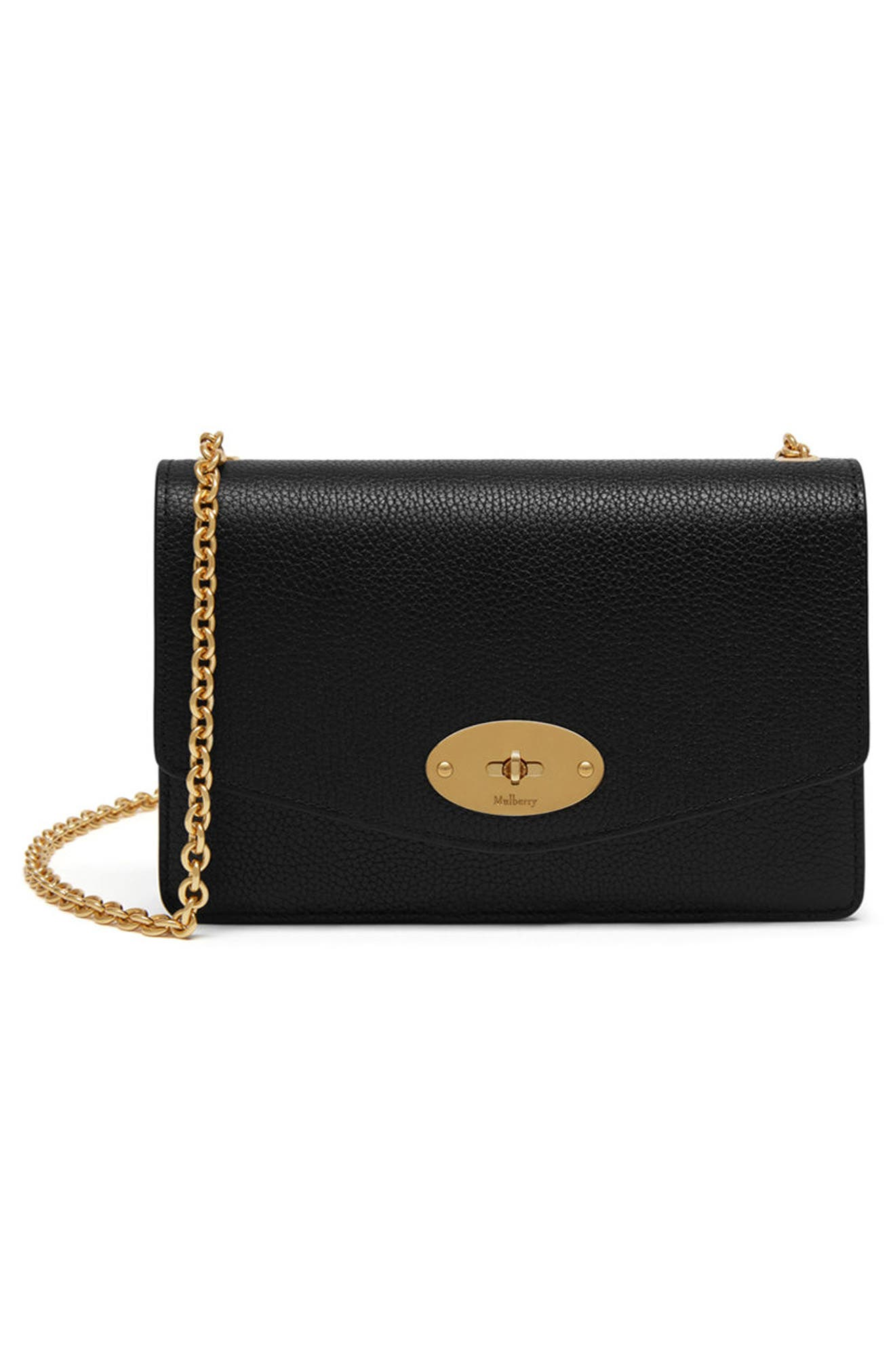 Small Darley Leather Clutch,                         Main,                         color, Black