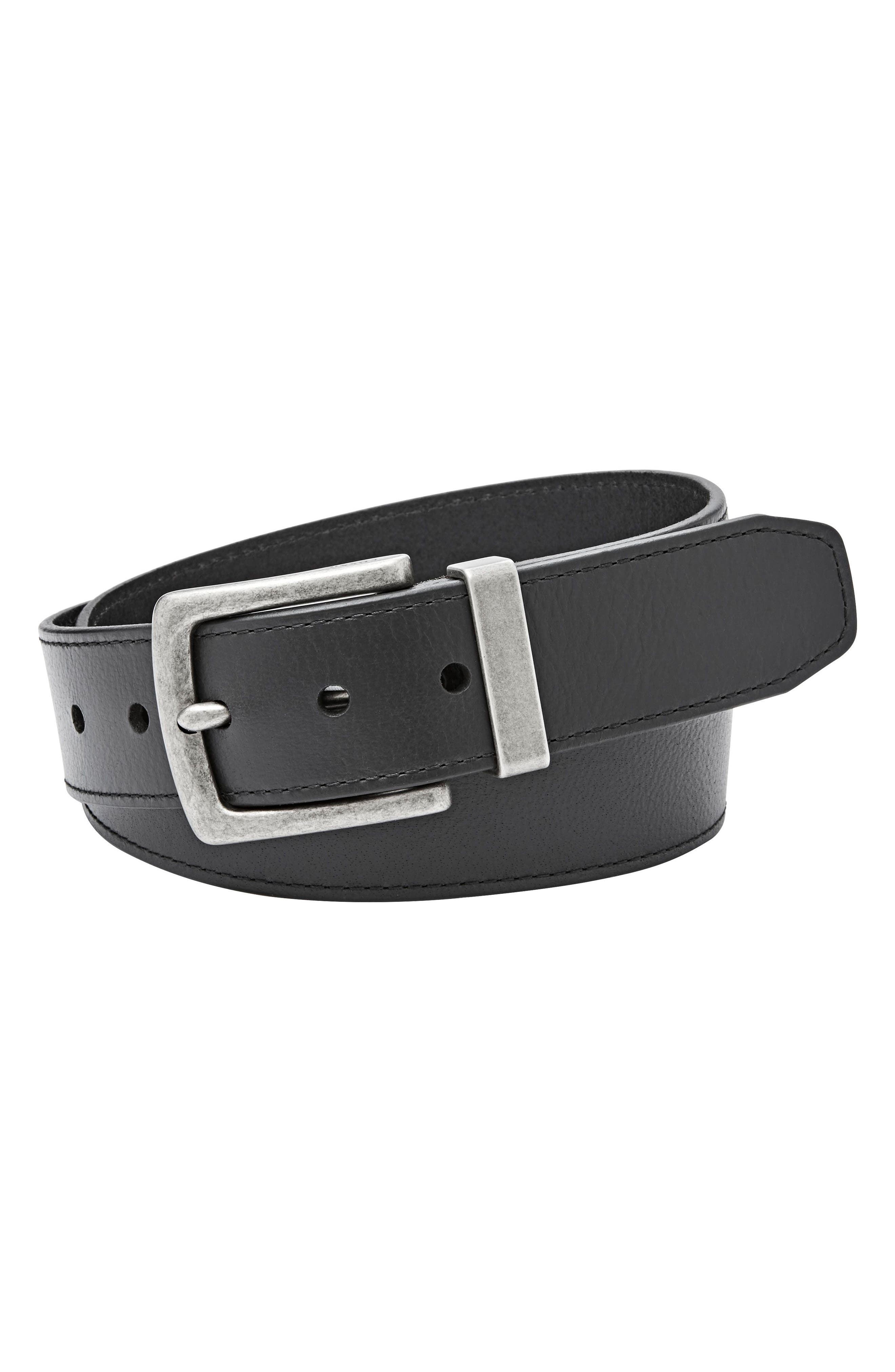 Fossil Mace Leather Belt