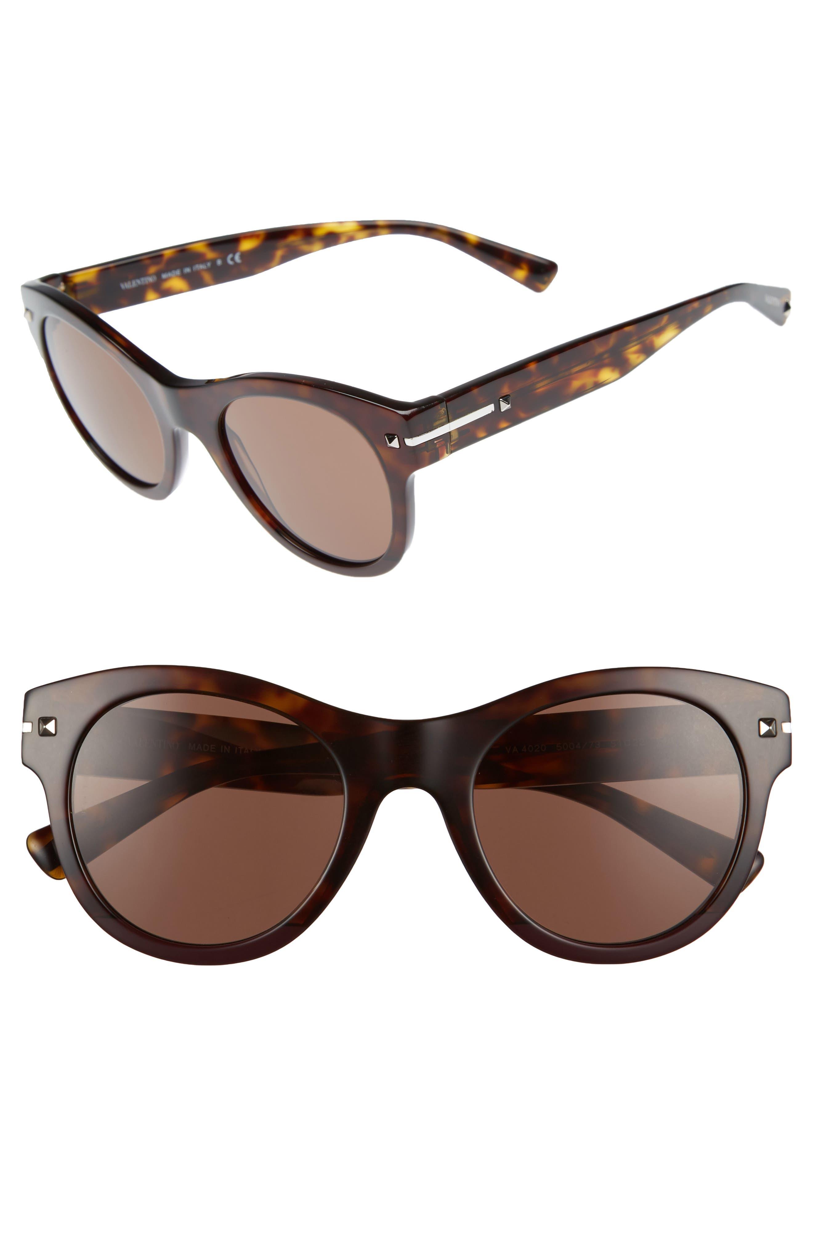 VALENTINO GARAVANI Valentino 51mm Round Sunglasses