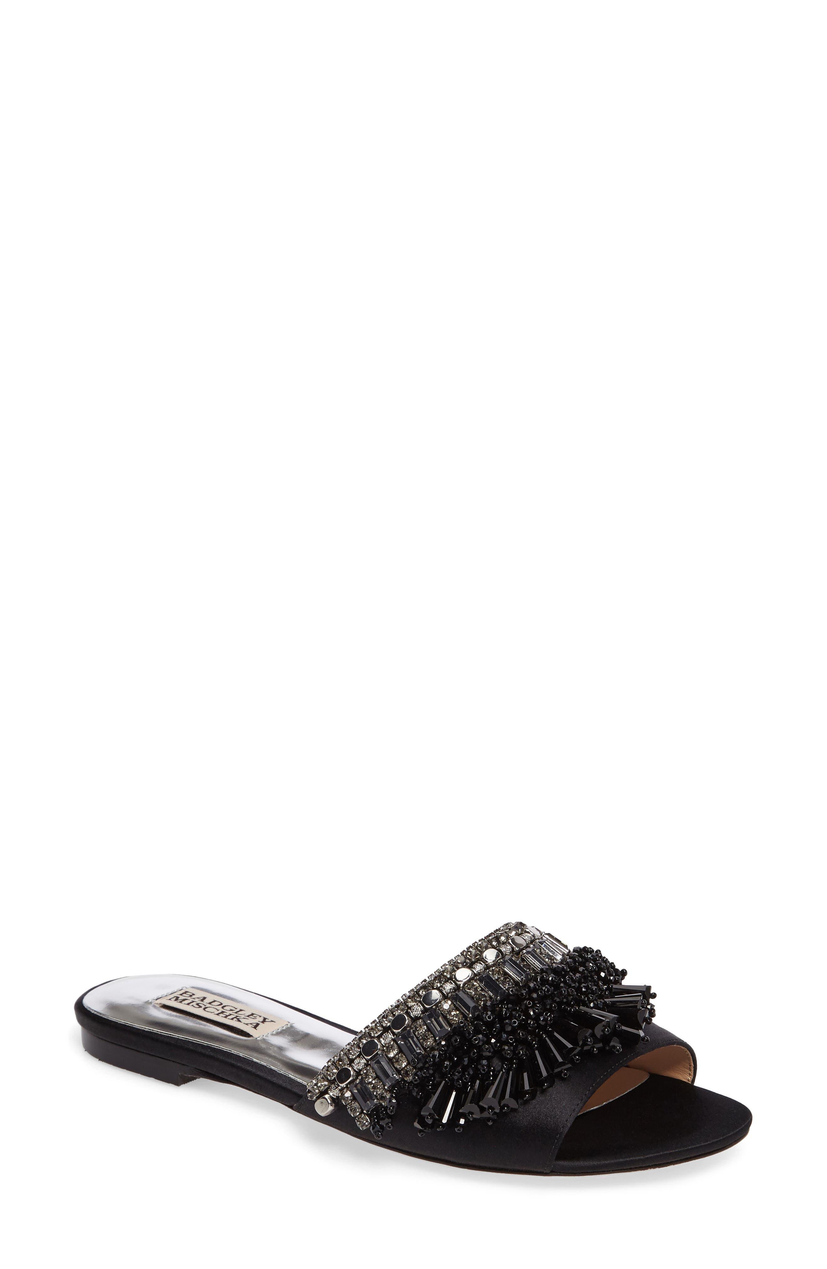 Main Image - Badgley Mischka Kassandra Embellished Slide Sandal (Women)