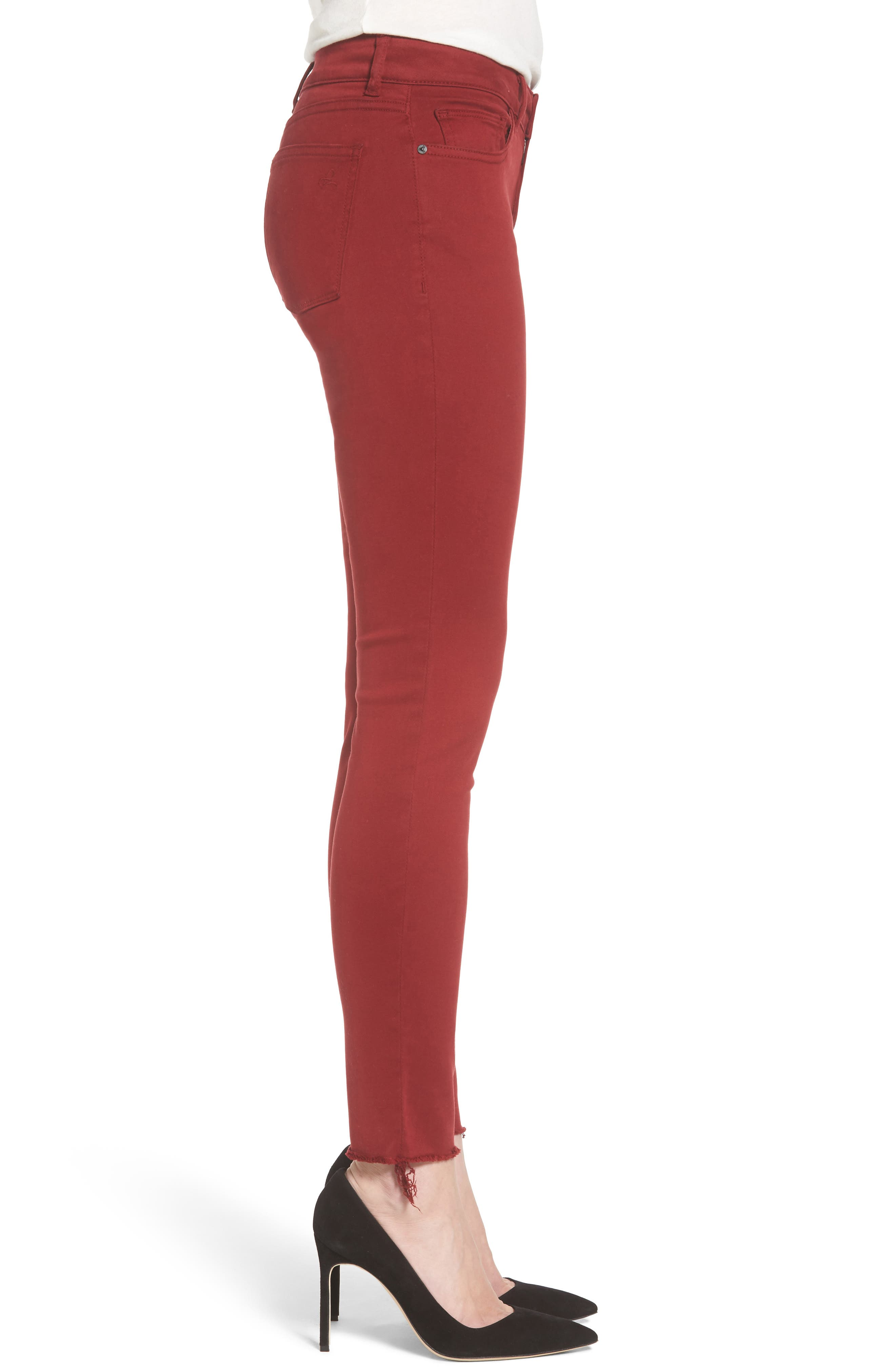 Emma Power Legging Jeans,                             Alternate thumbnail 3, color,                             Rhubarb