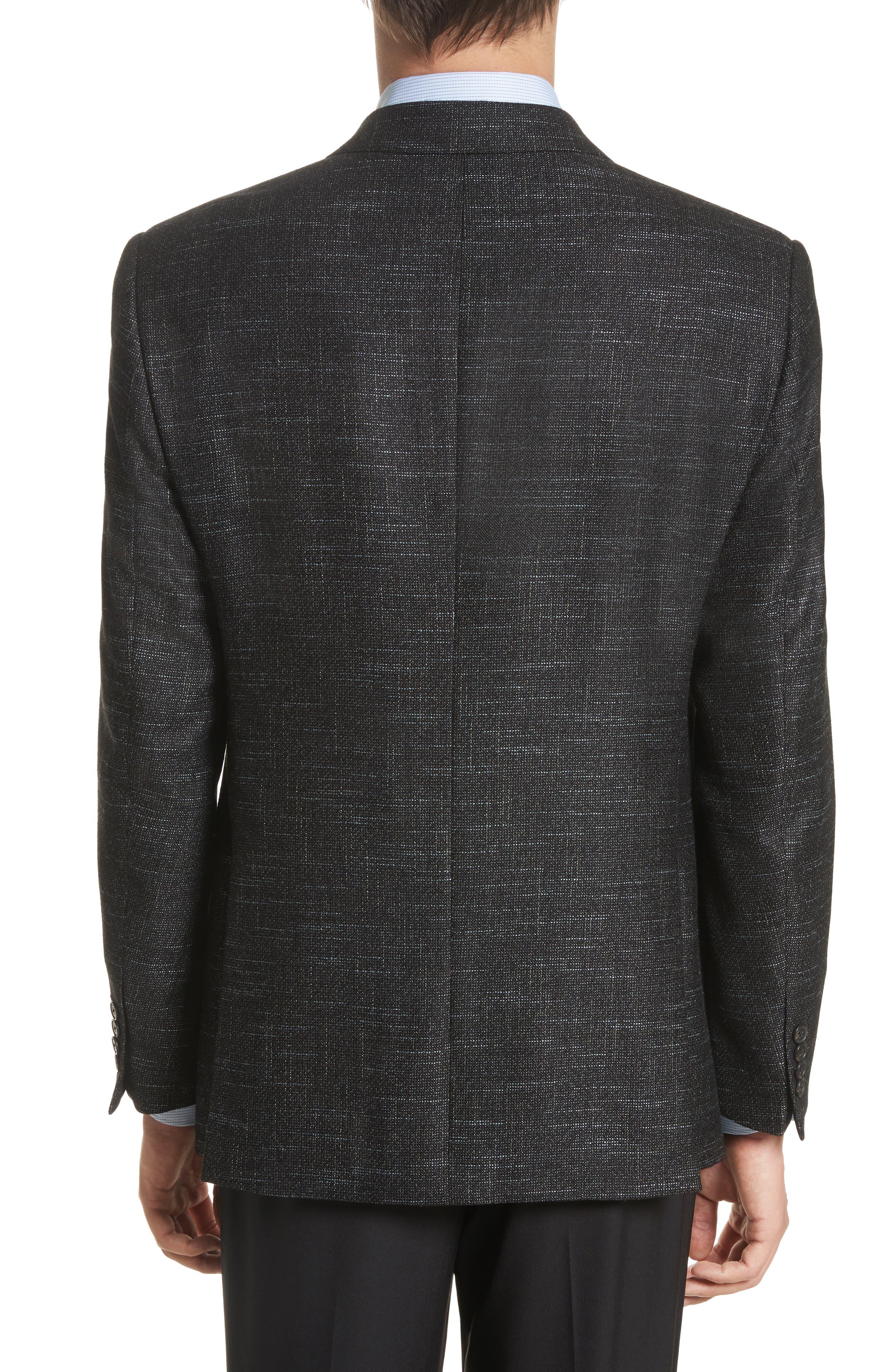 G-Line Trim Fit Wool Blend Blazer,                             Alternate thumbnail 2, color,                             Celery