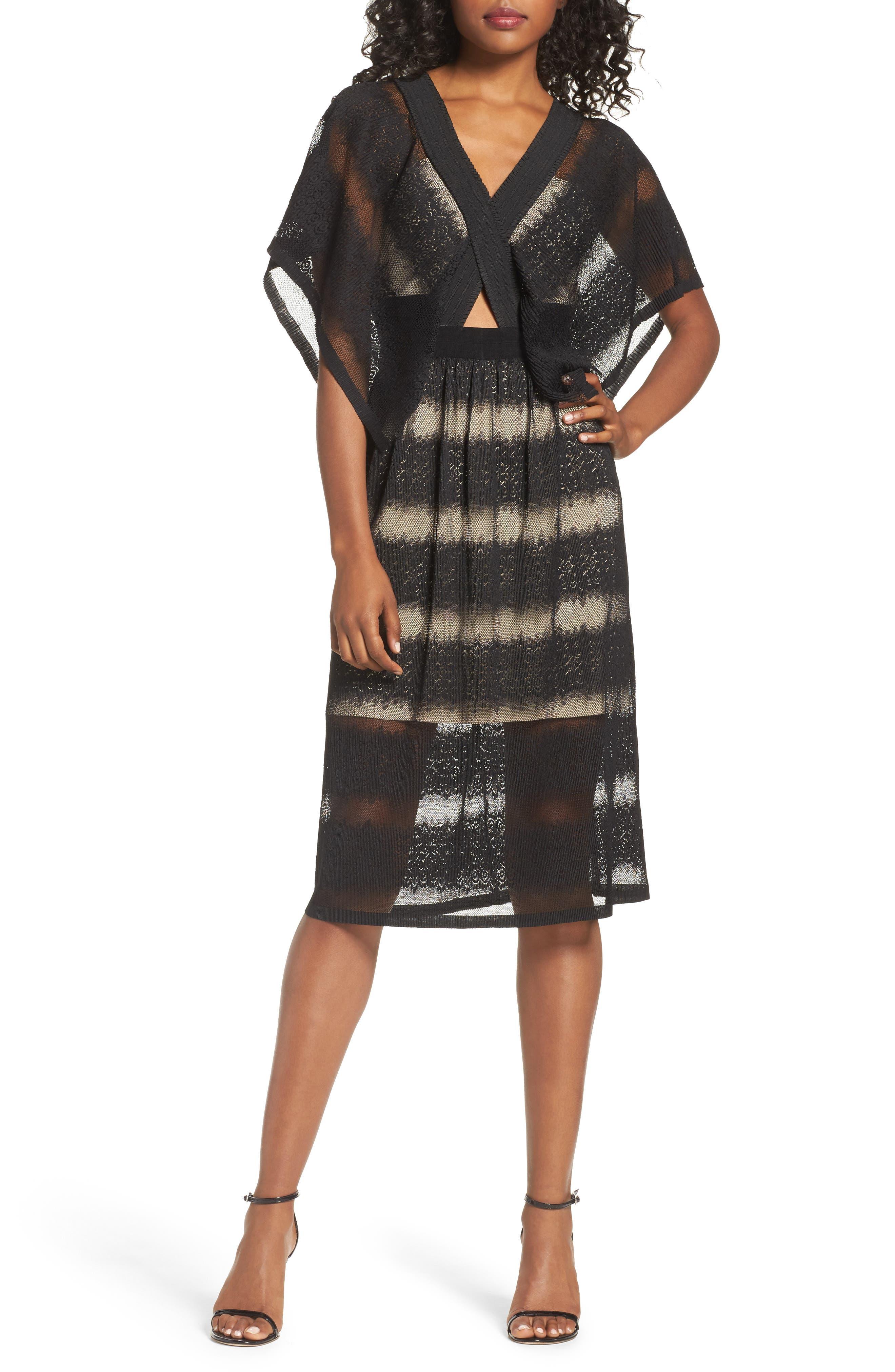 Foxiedox Angelique Deep V-Neck Lace Dress