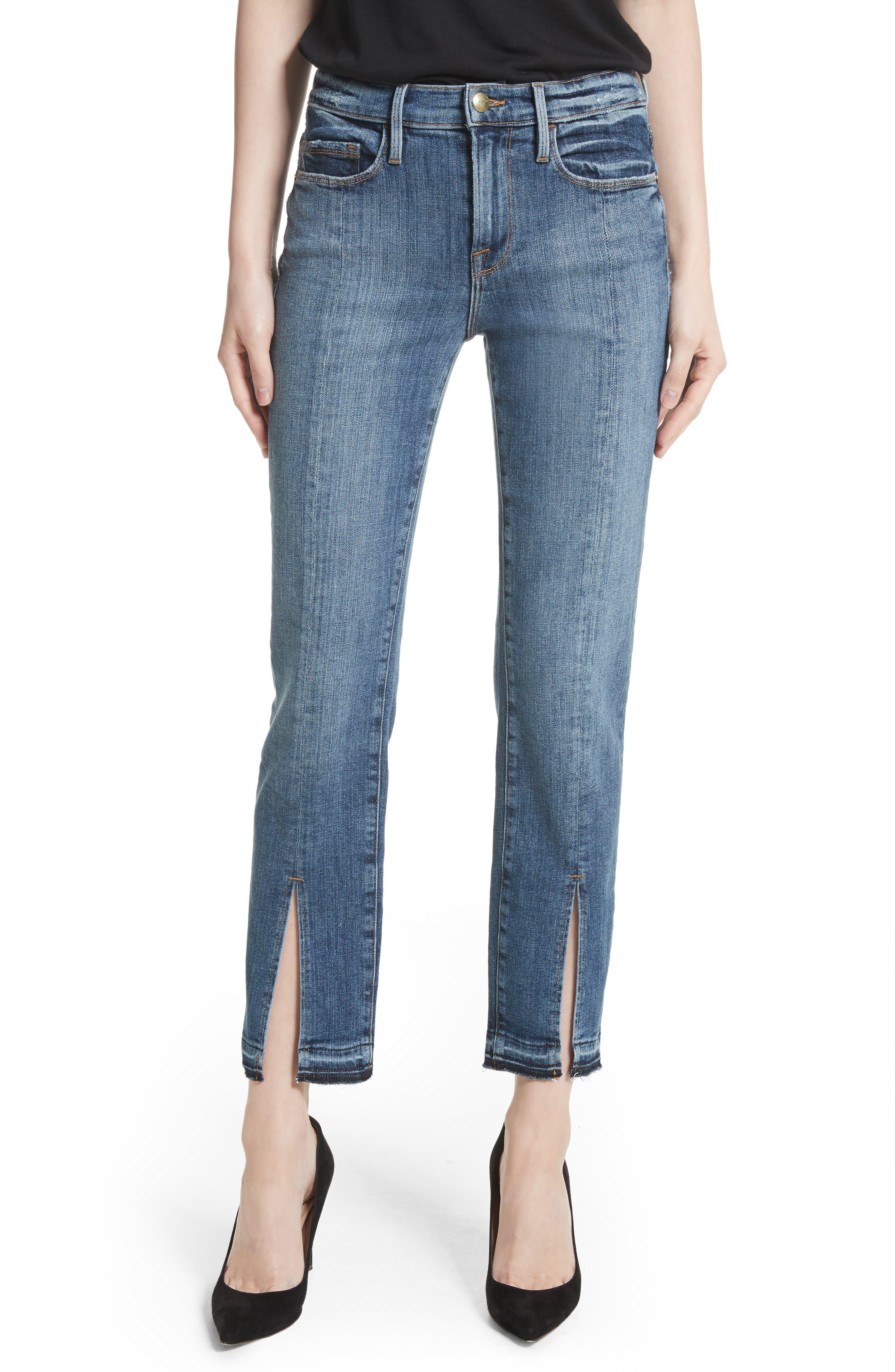 Main Image - FRAME Le Nouveau Split Hem Jeans (Sheffield) (Nordstrom Exclusive)