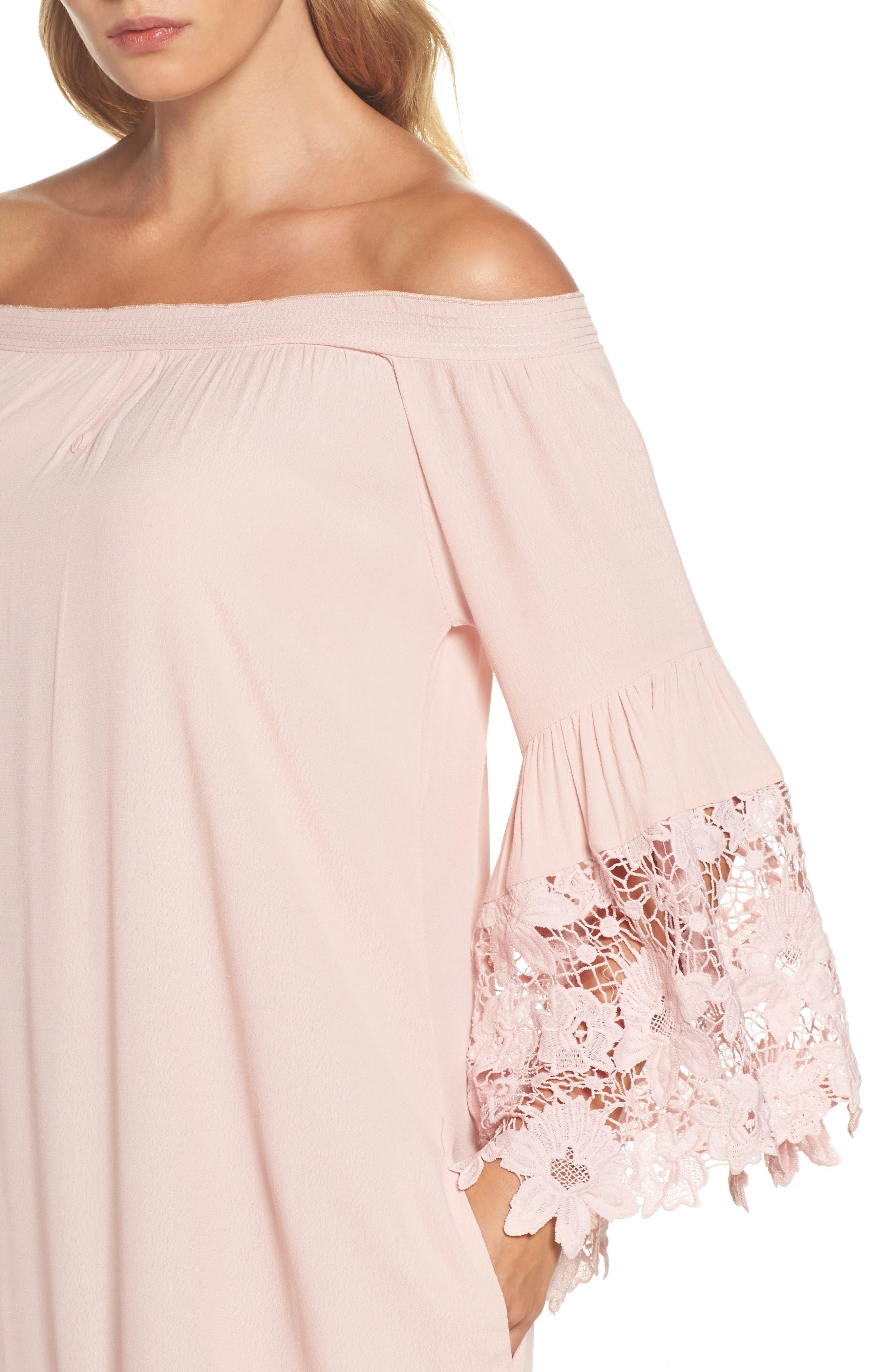Alternate Image 3  - Muche et Muchette Jolie Lace Accent Cover-Up Dress