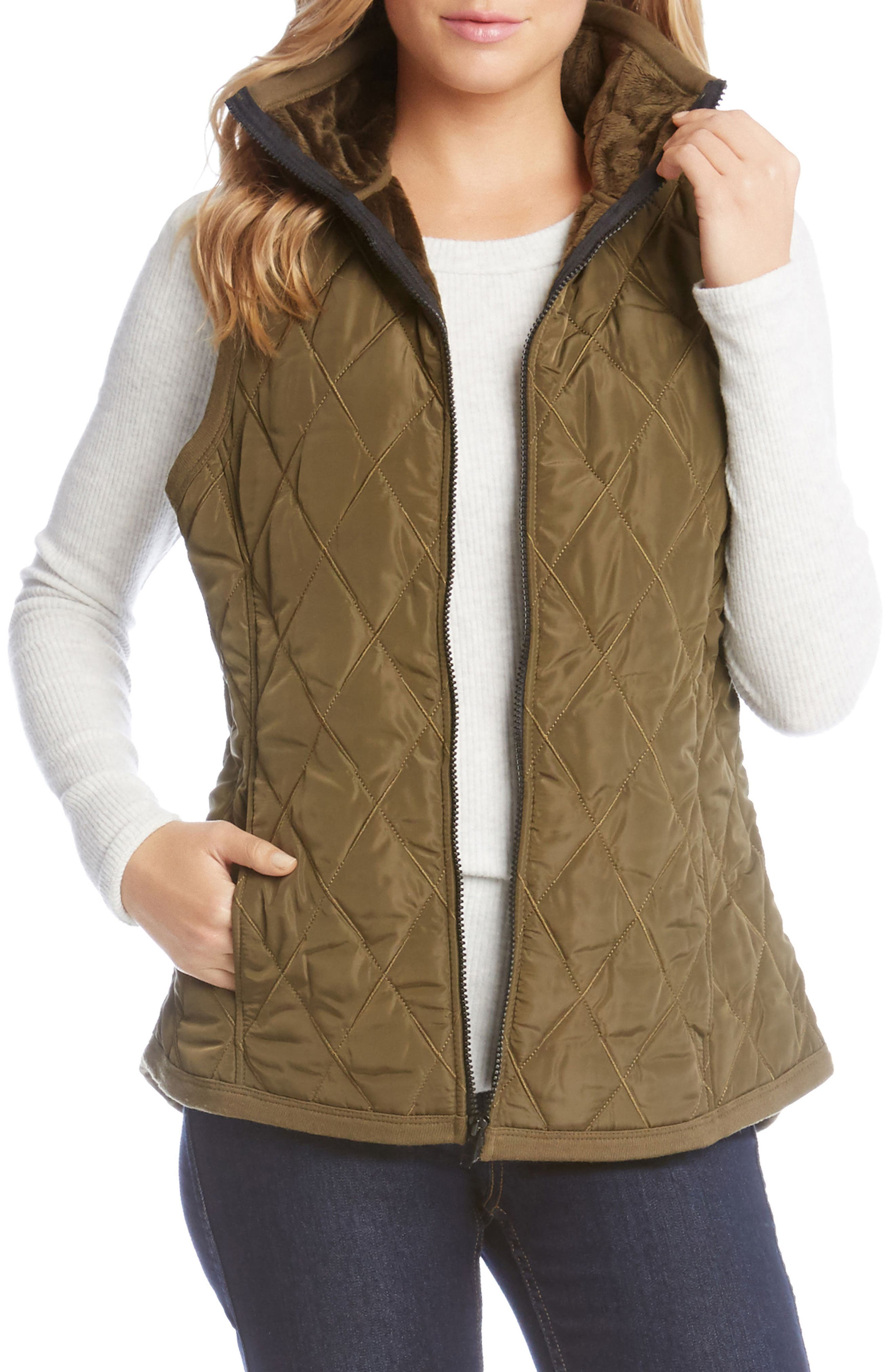 Quilted Vest,                             Main thumbnail 1, color,                             Sage