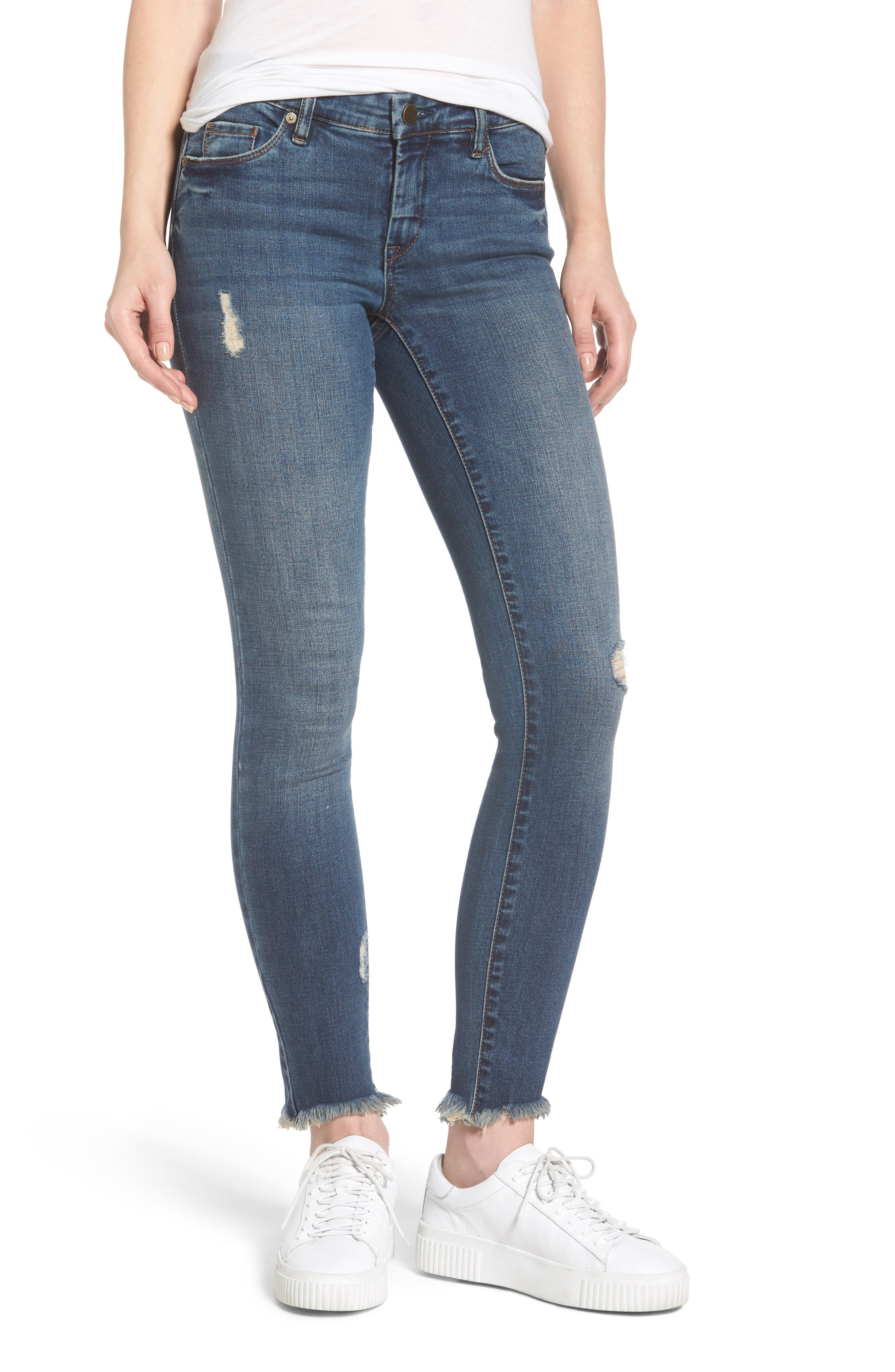 Skinny Ankle Jeans,                         Main,                         color, Liquid Lunch Blue