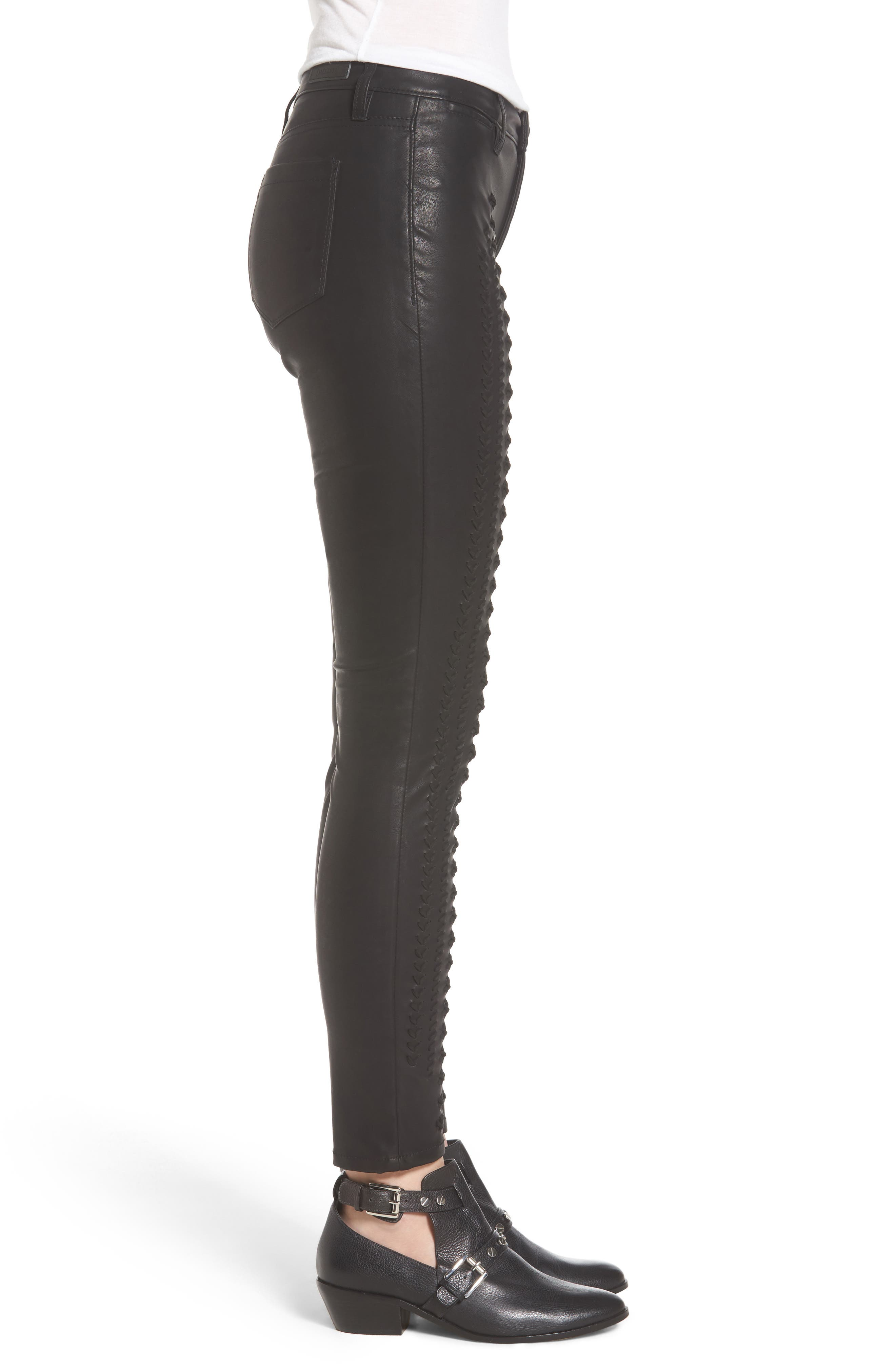 Alternate Image 3  - BLANKNYC Whipstitch Ankle Skinny Faux Leather Pants